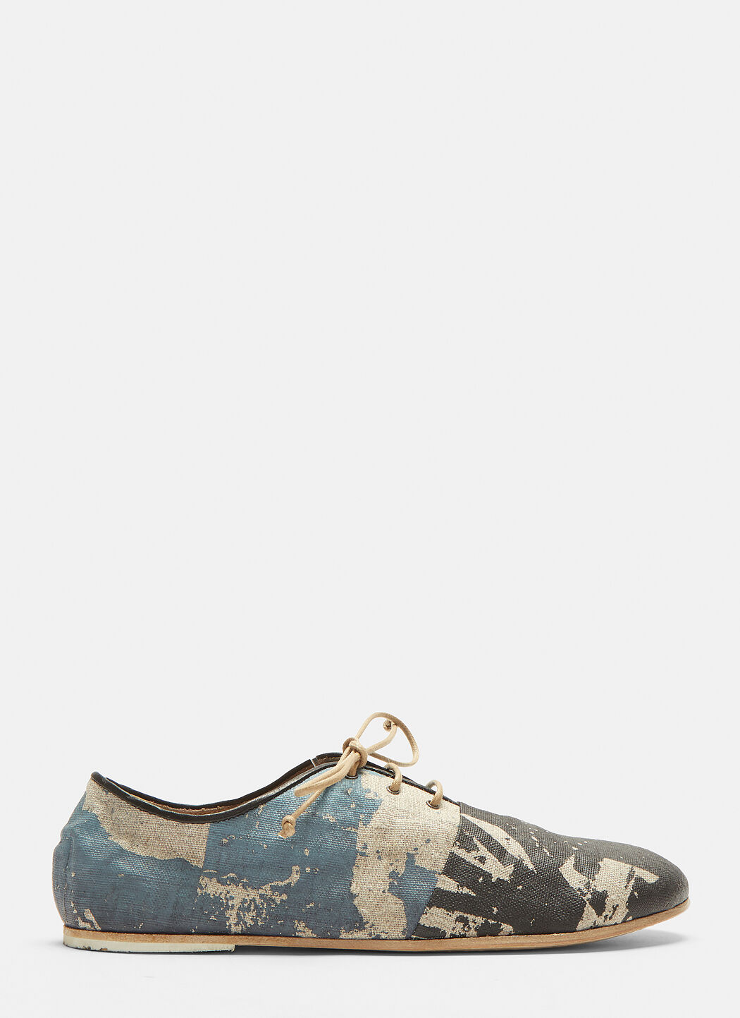Tessuto Canvas Lace-up Shoes in Blue