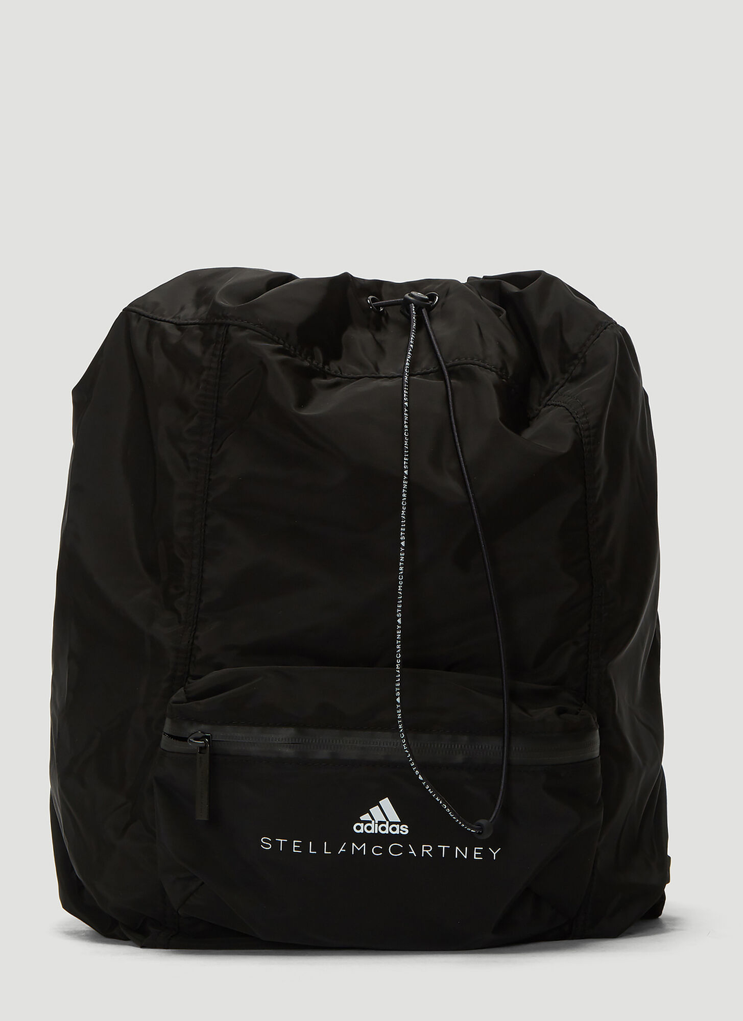 adidas by Stella McCartney Logo Print Backpack in Black
