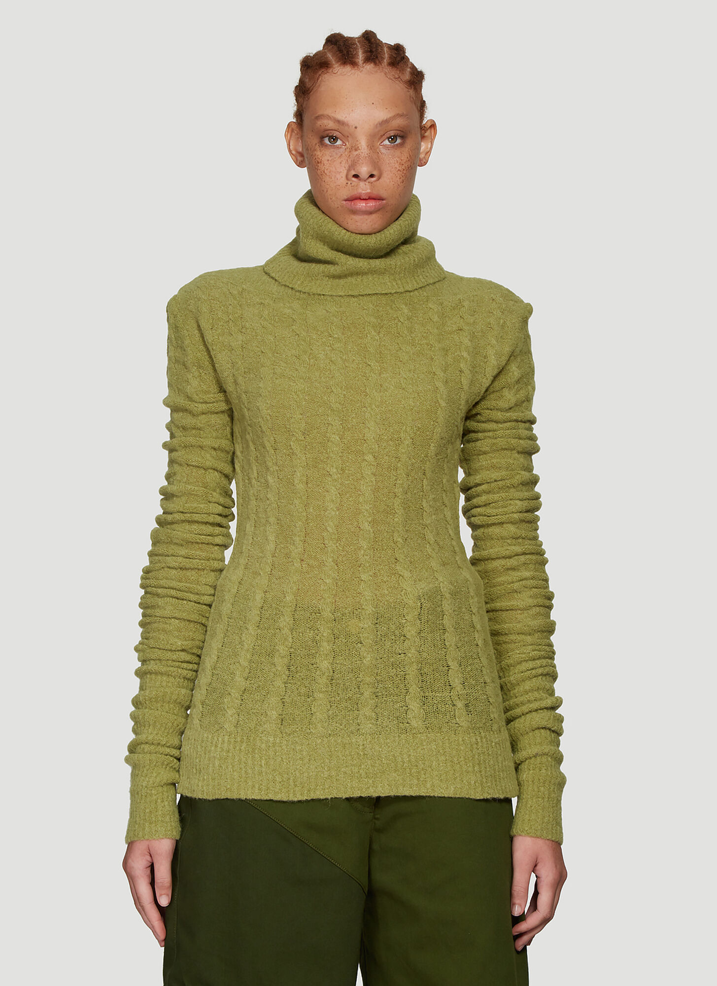 Jacquemus La Maille Sofia Sweater in Green