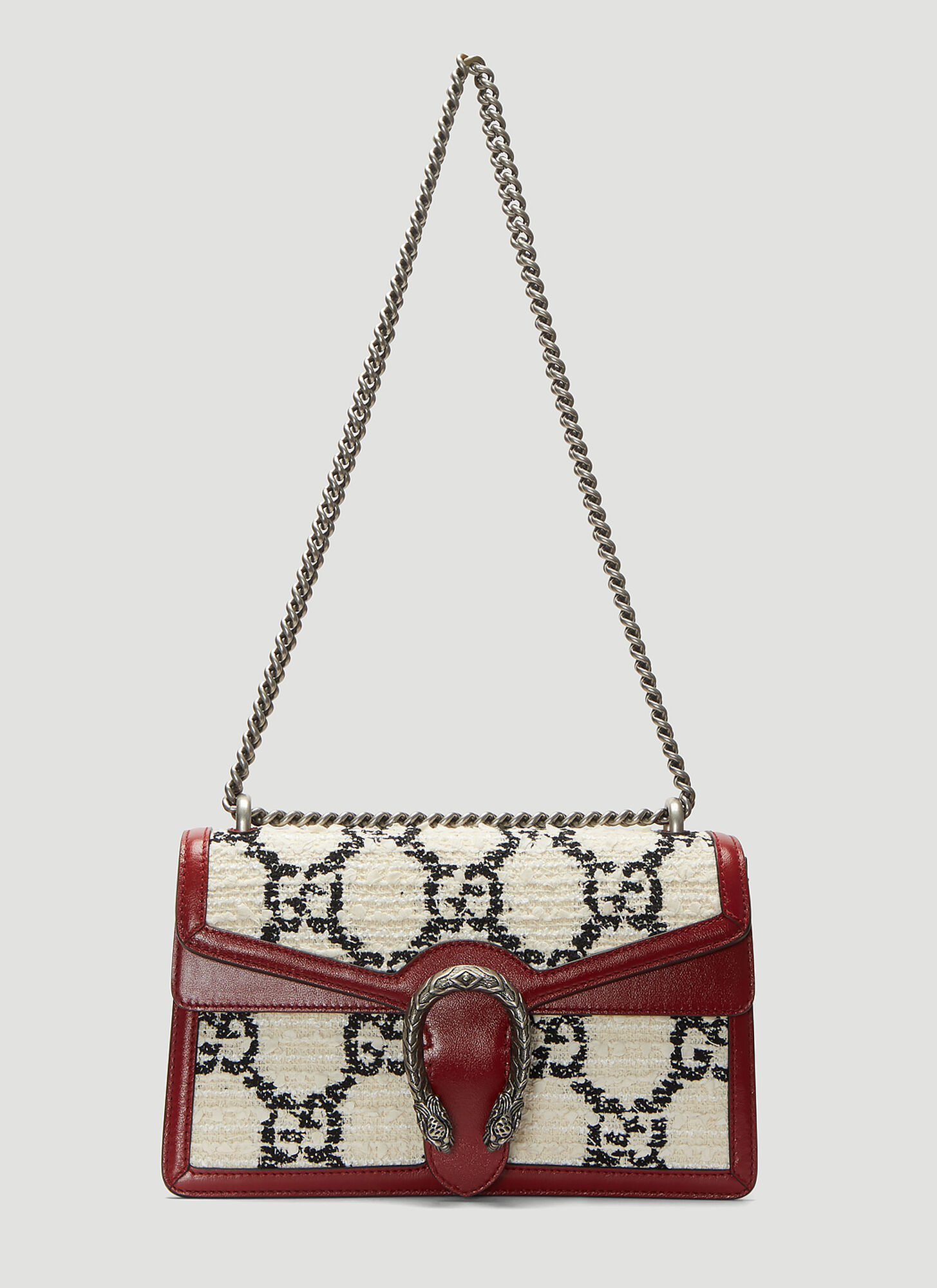 Gucci Dionysus Tweed Shoulder Bag in Cream