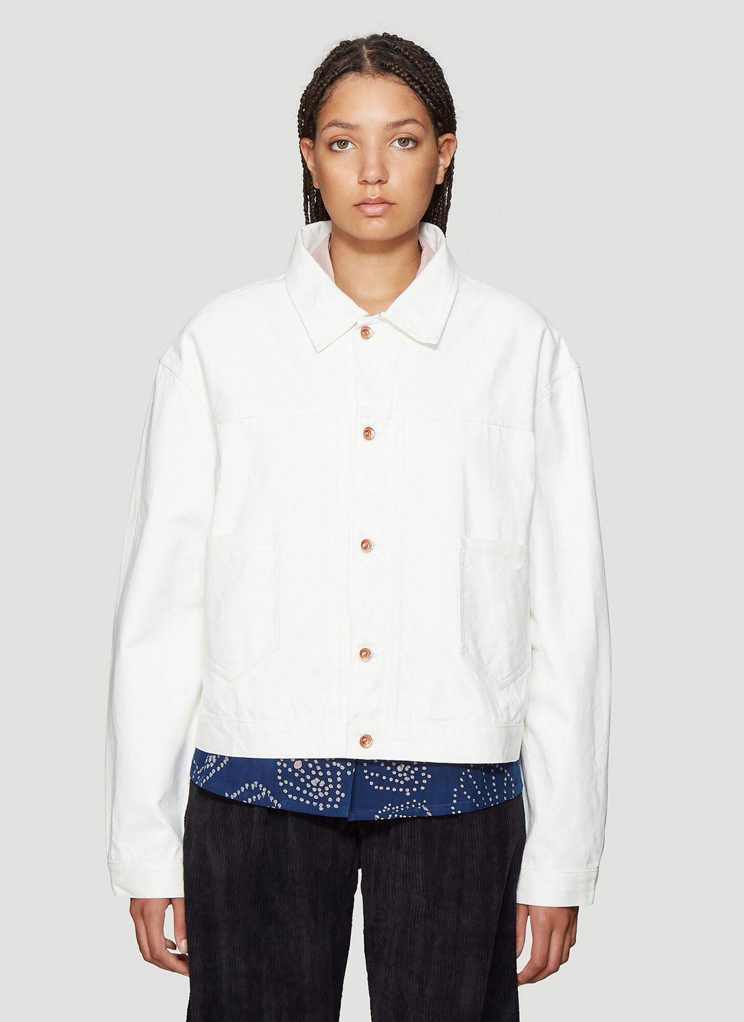 STORY mfg. Sundae Oversized Jacket in White