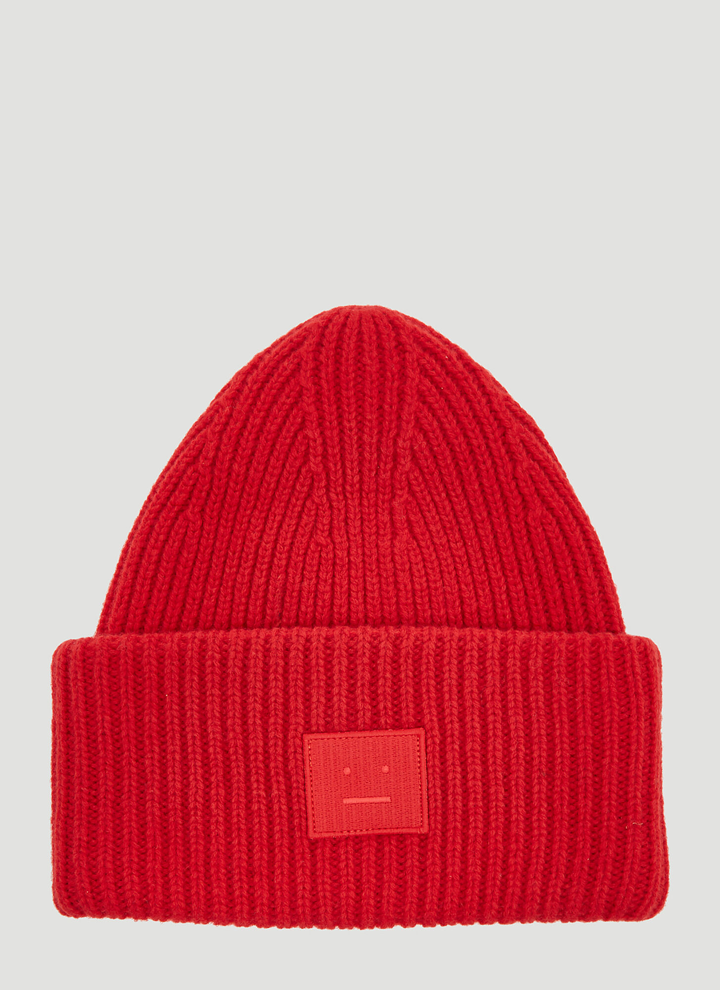 Acne Studios Pansy Face Hat in Red
