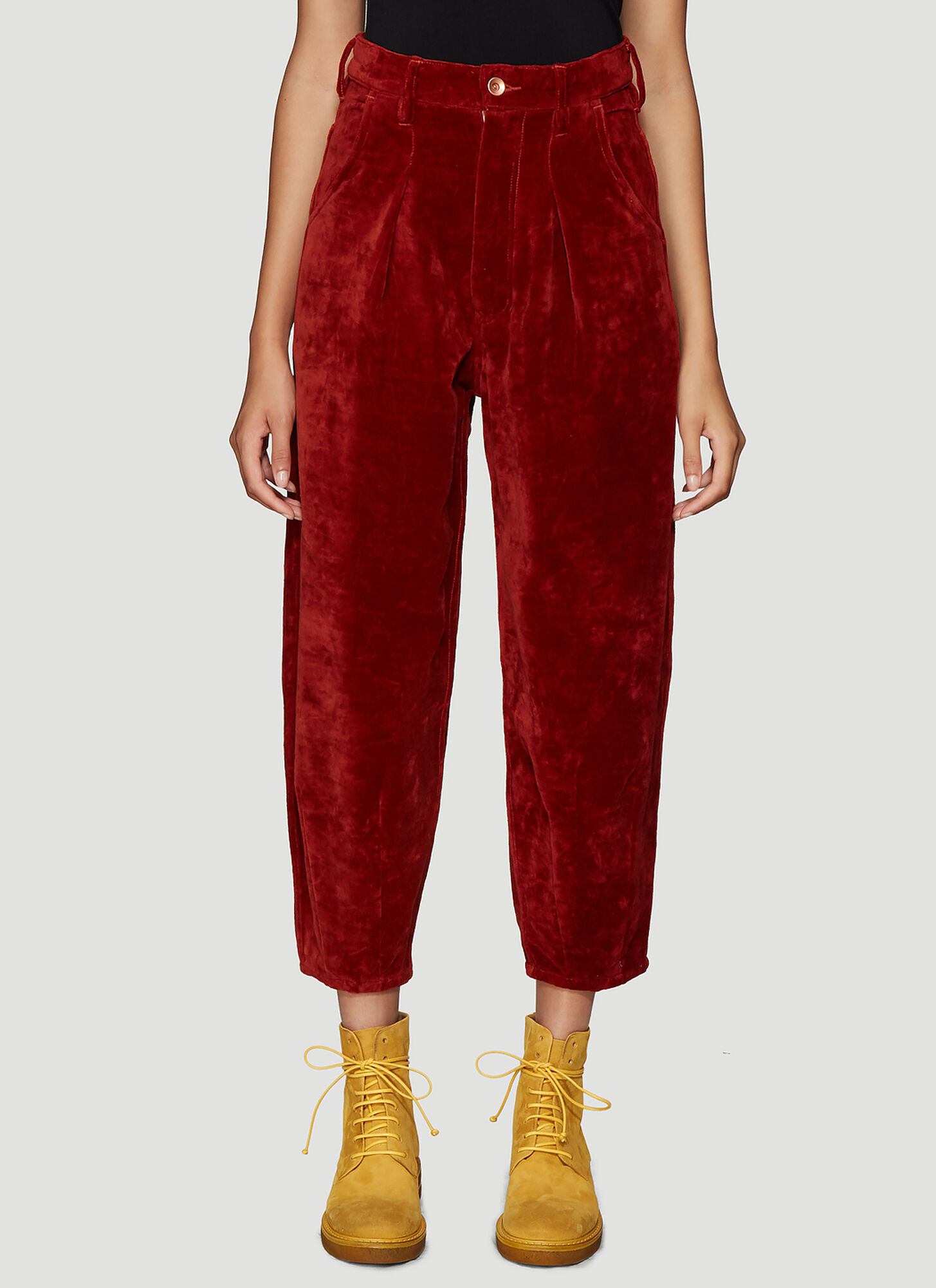 STORY mfg. Lush Jeans in Red Velvet