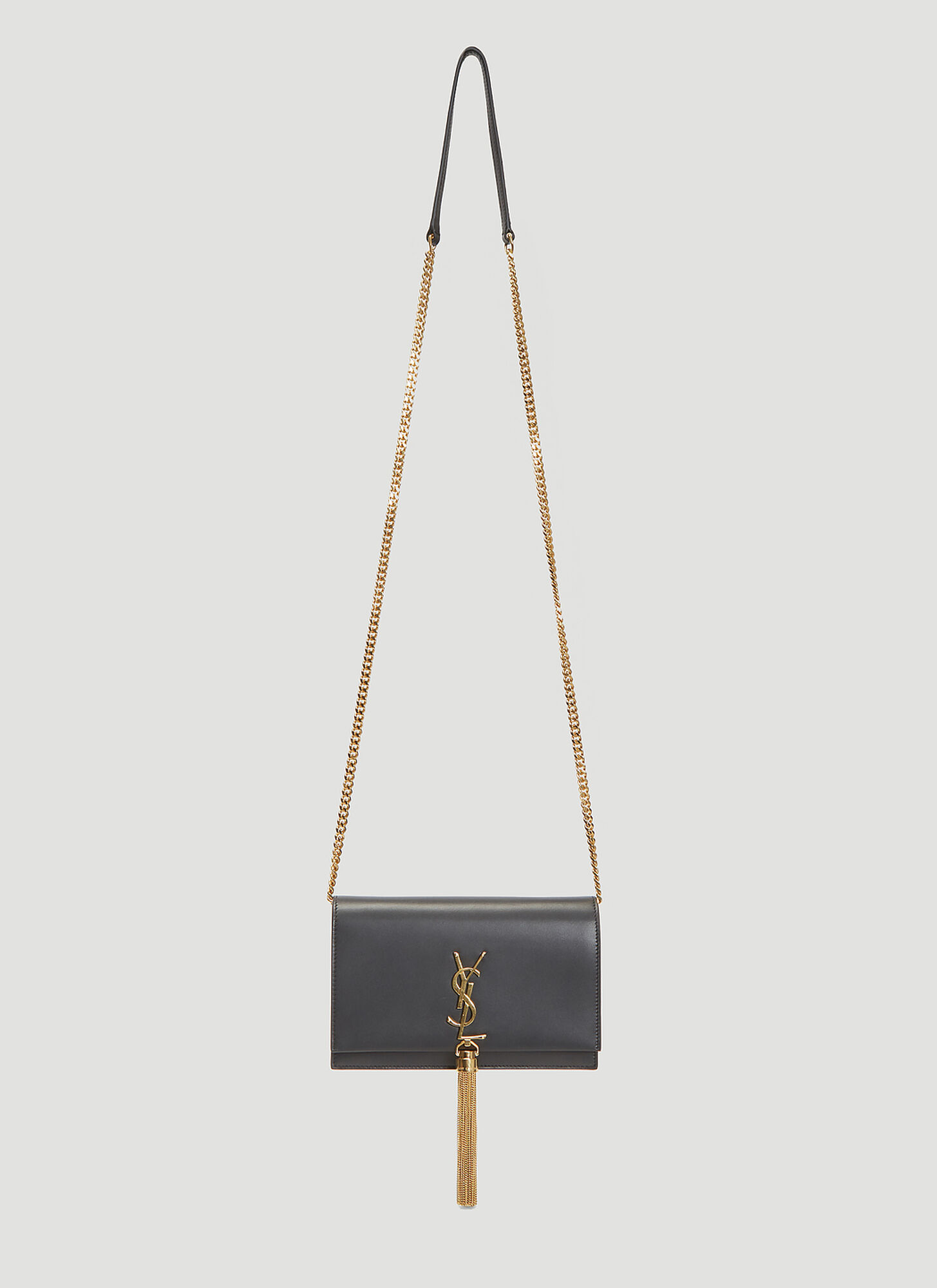 Saint Laurent Small Kate Tassel Bag in Black