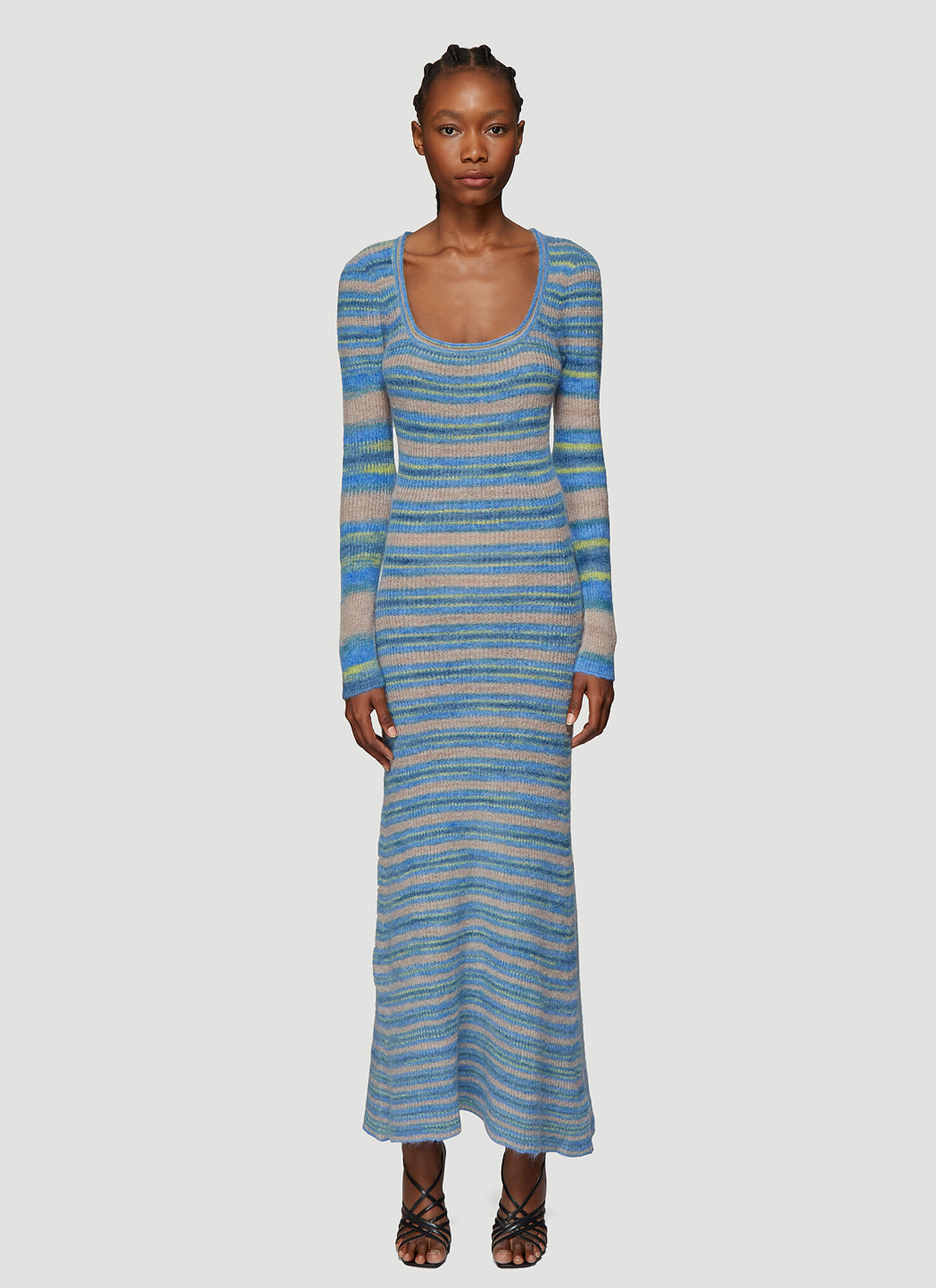 Jacquemus La Robe Perou Stripe Knit Dress in Blue