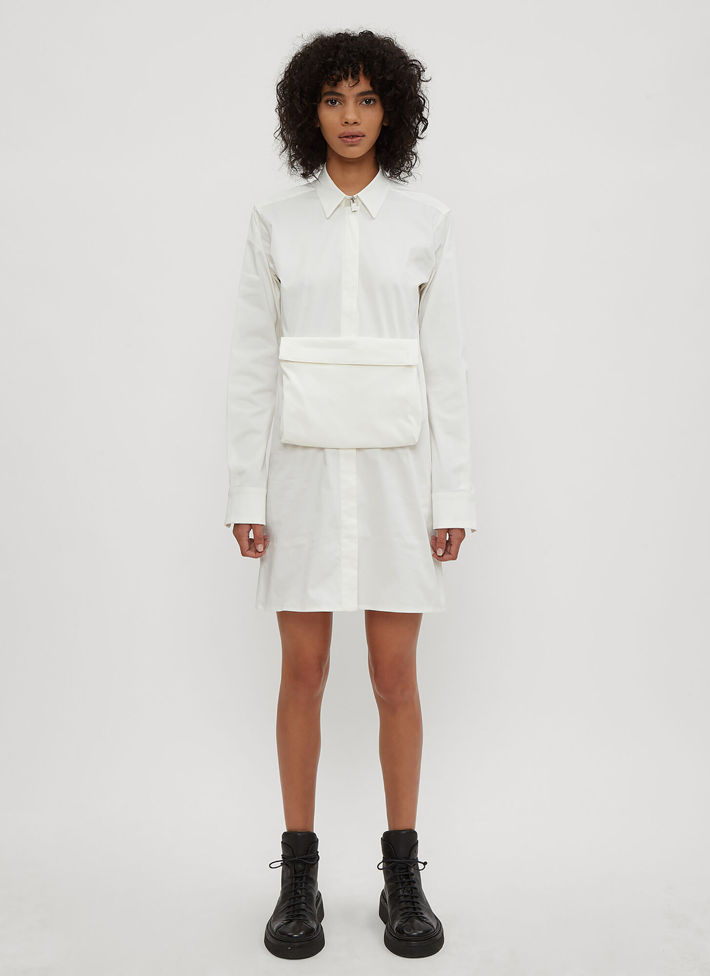 1017 ALYX 9SM Scout Pouch Shirt Dress in White size IT - 38