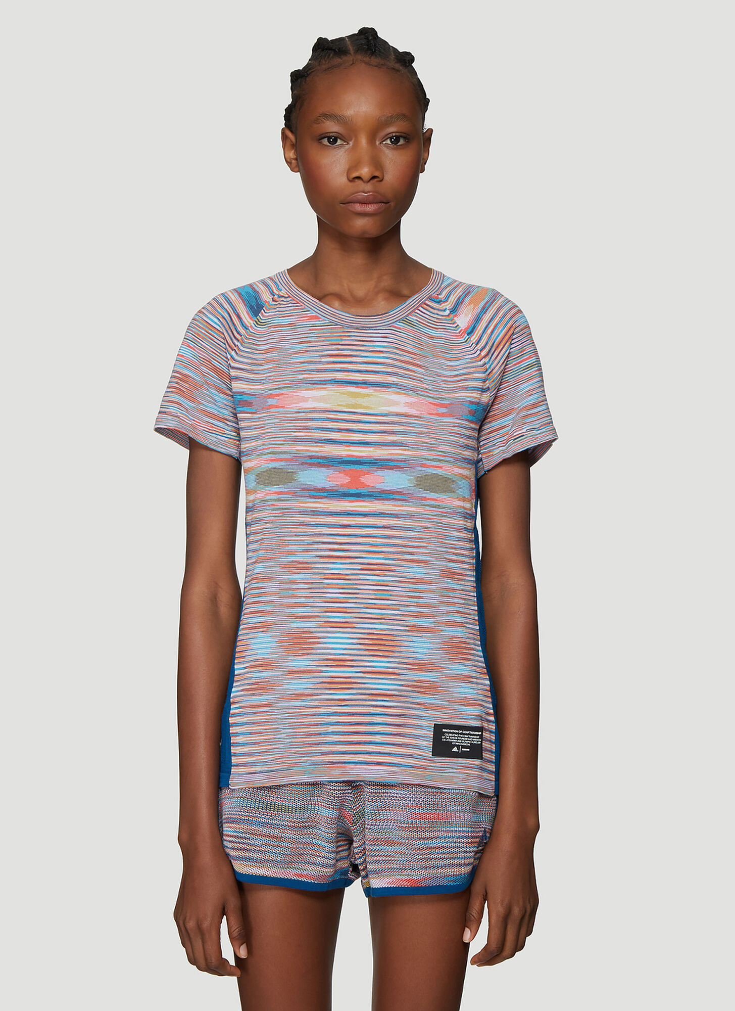 Adidas x Missoni X Missoni City Runners Unite T-Shirt in Blue