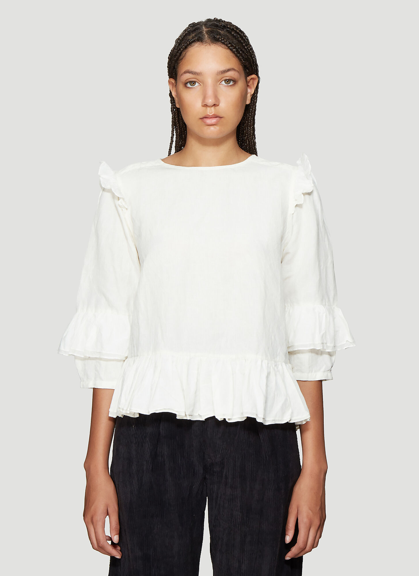 STORY mfg. Alma top in White