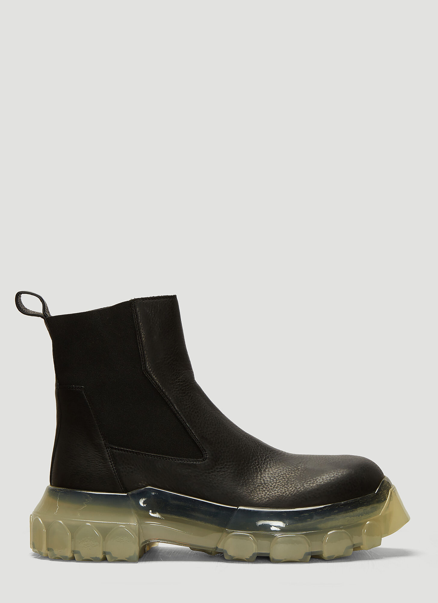 Rick Owens Bozo Tractor Beetle Boots in Black