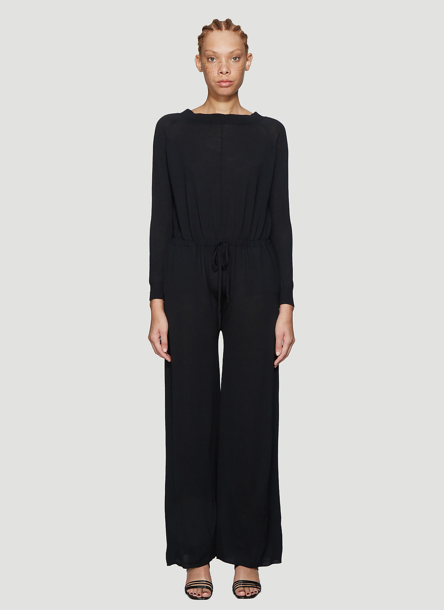 Stella McCartney Wool Knit Jumpsuit in Black