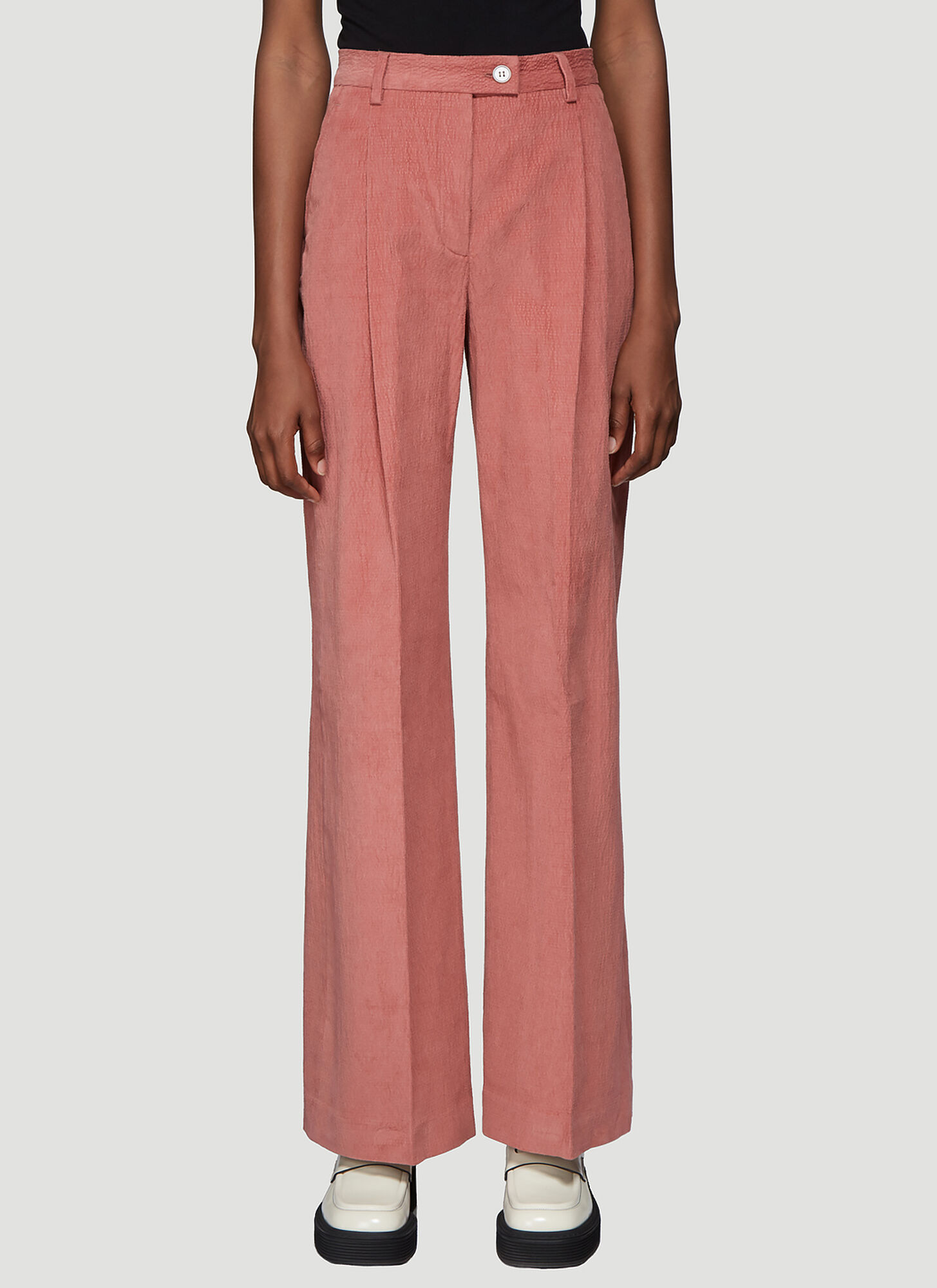 Acne Studios Pina Wide Leg Pants in Pink