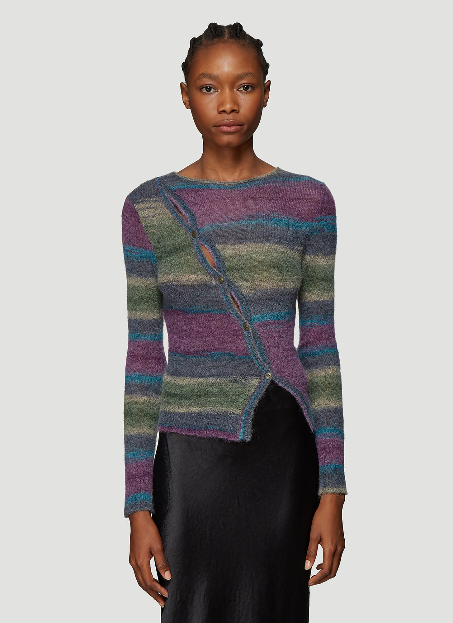 Jacquemus La Maille Pau Knitted Sweater in Purple