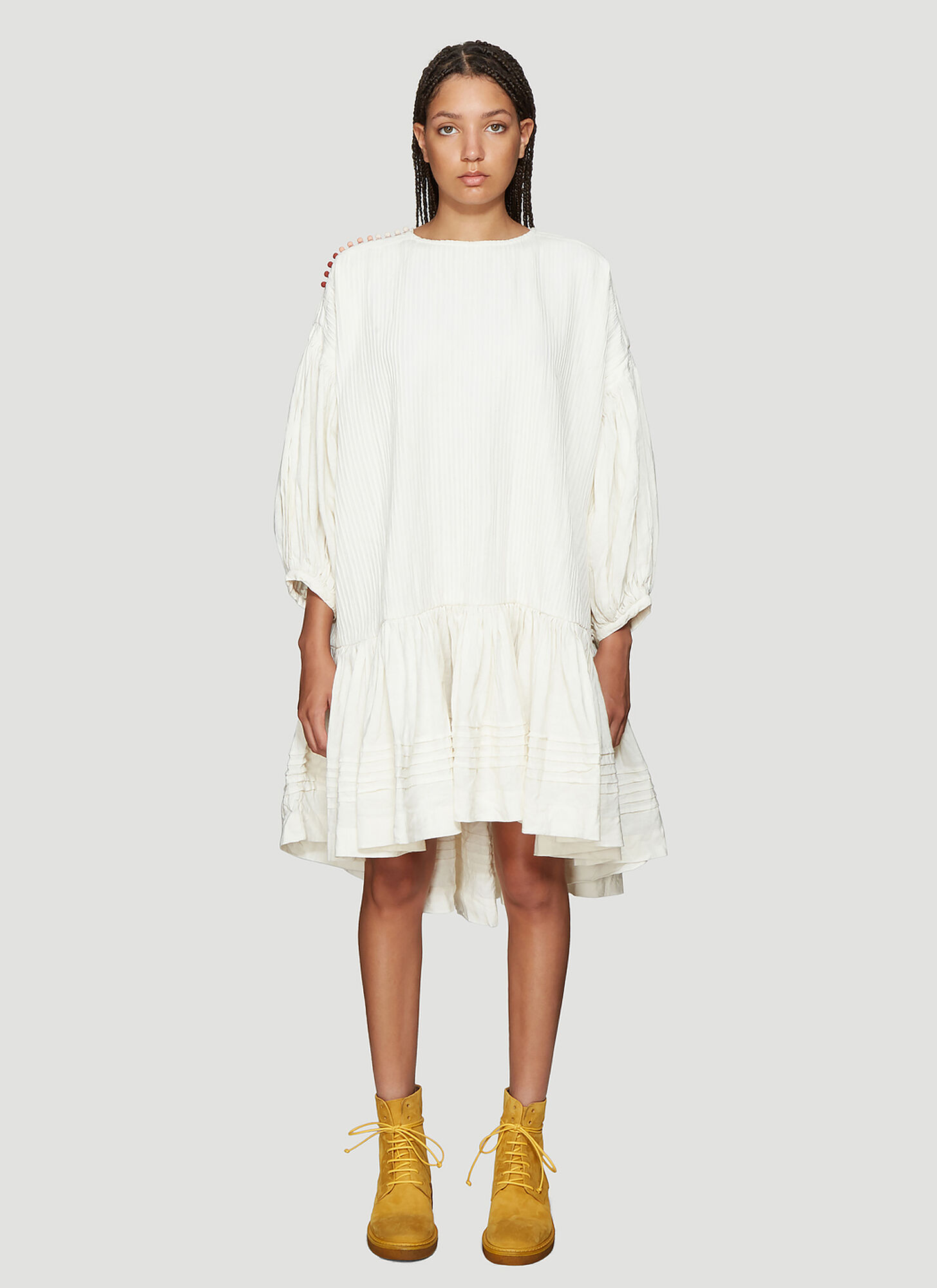 STORY mfg. Verity Dress in White