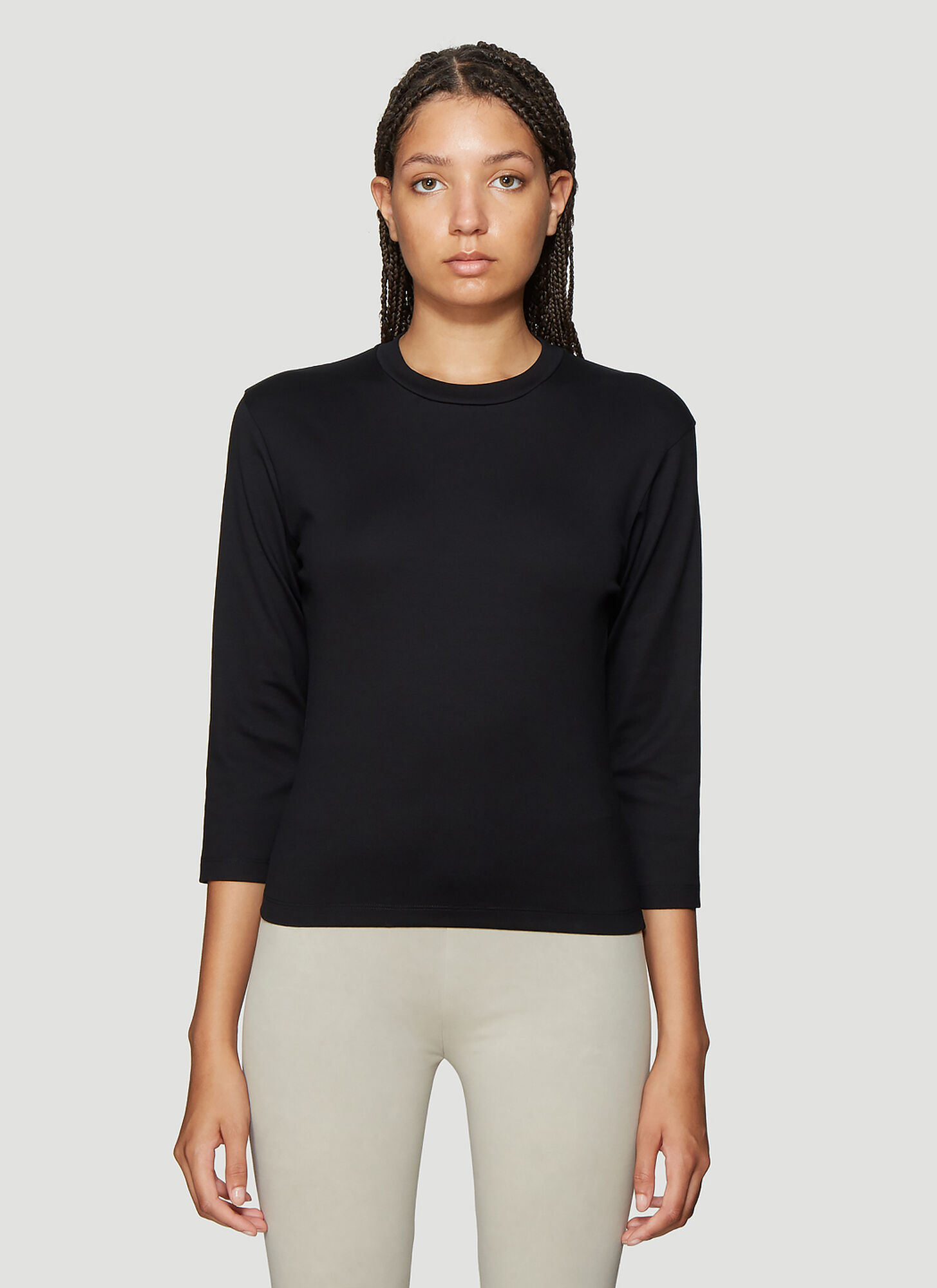 Roni Ilan Three Quarter Sleeve Top in Black