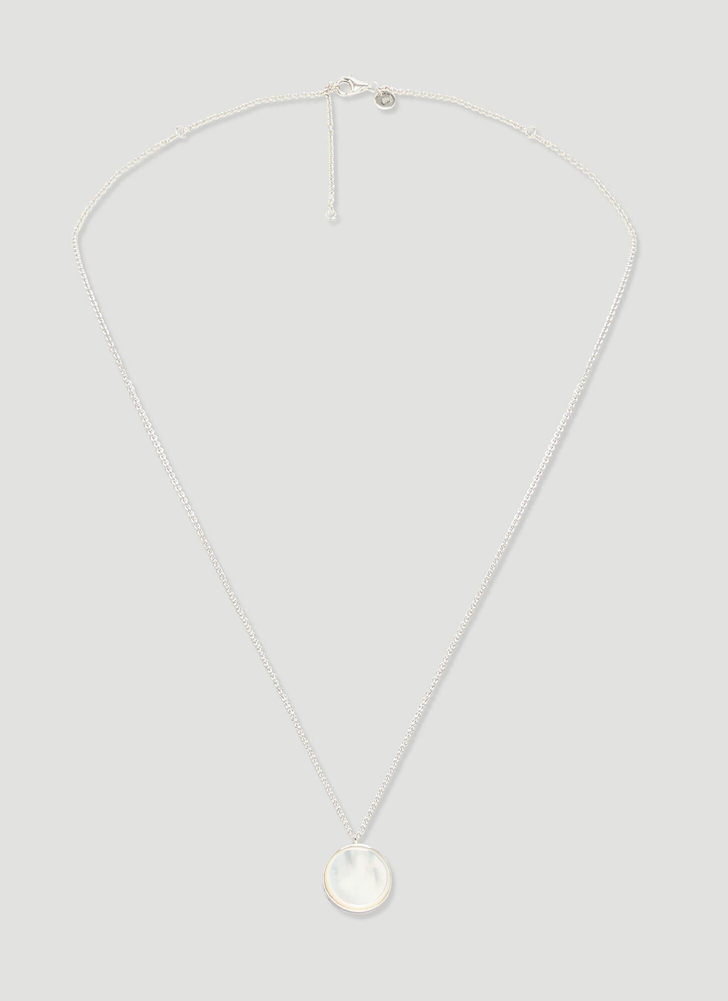 Tom Wood Mother of Pearl Pendant Necklace in SIlver