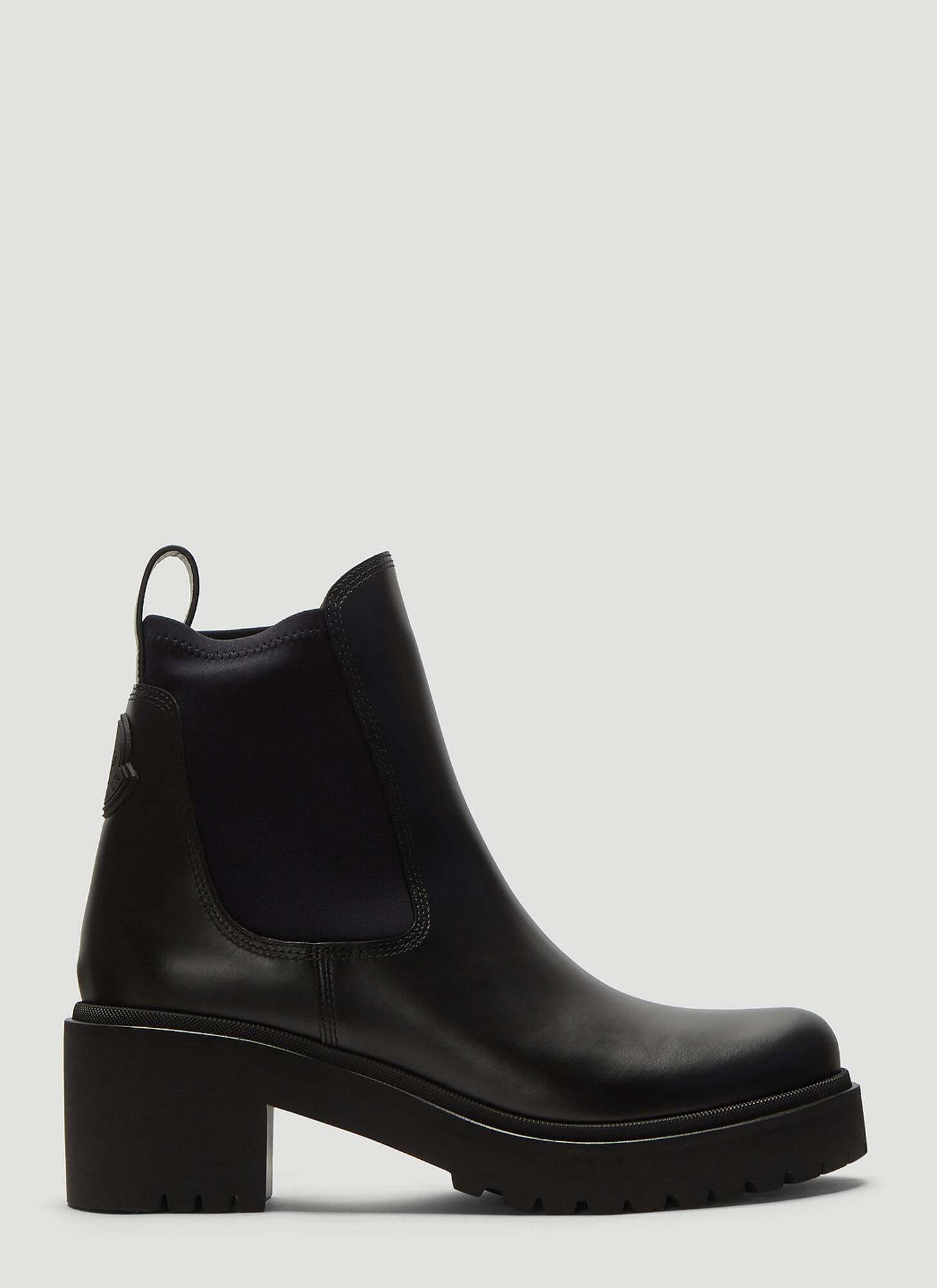 Moncler Vera Leather Boots in Black