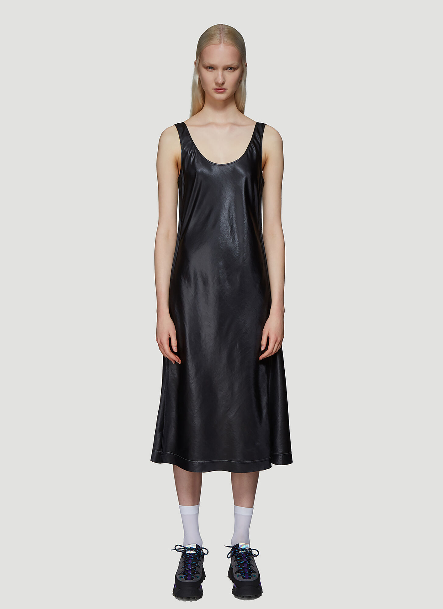Acne Studios Satin Midi Dress in Black