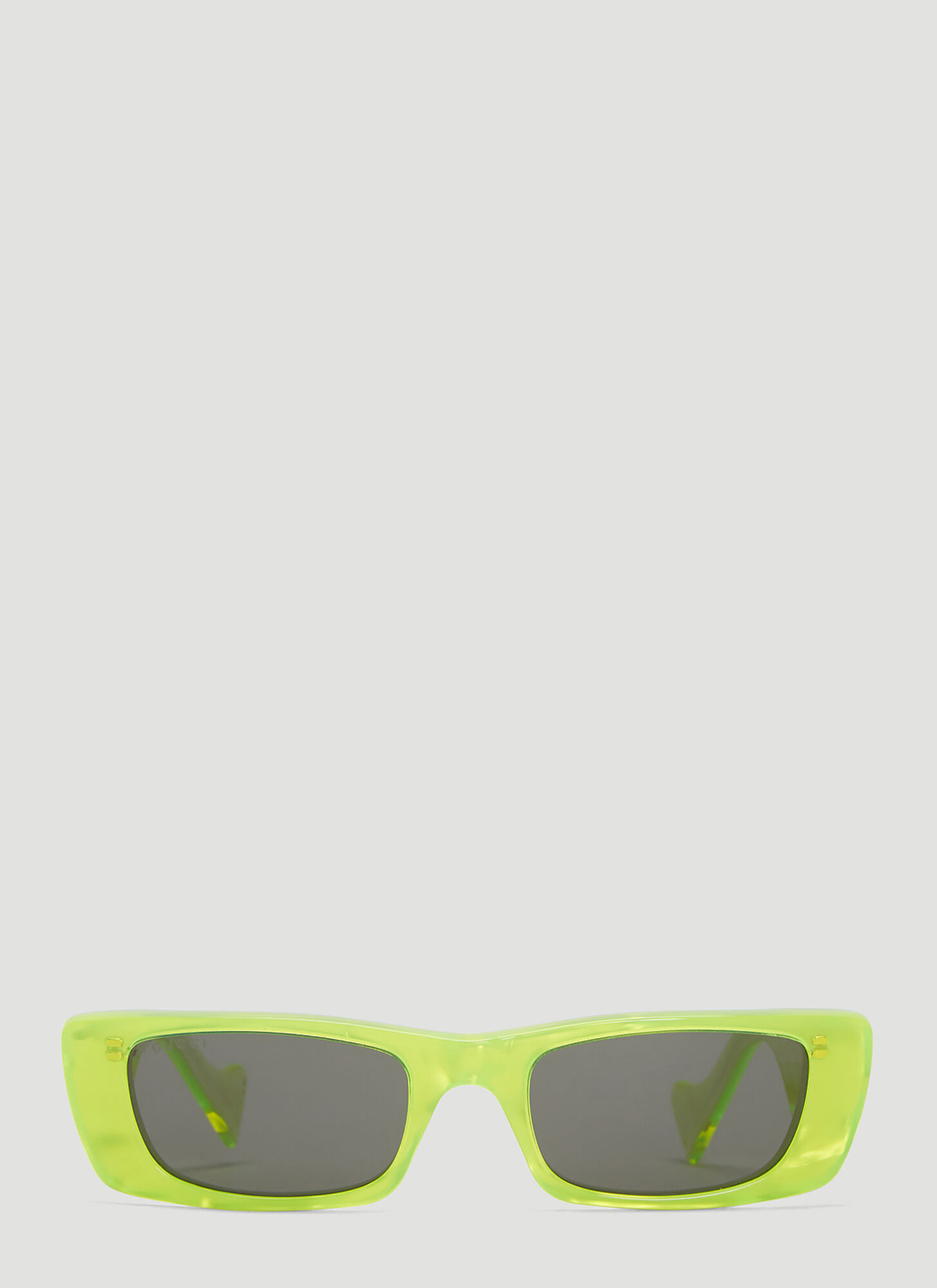 Gucci Rectangular Sunglasses in Yellow