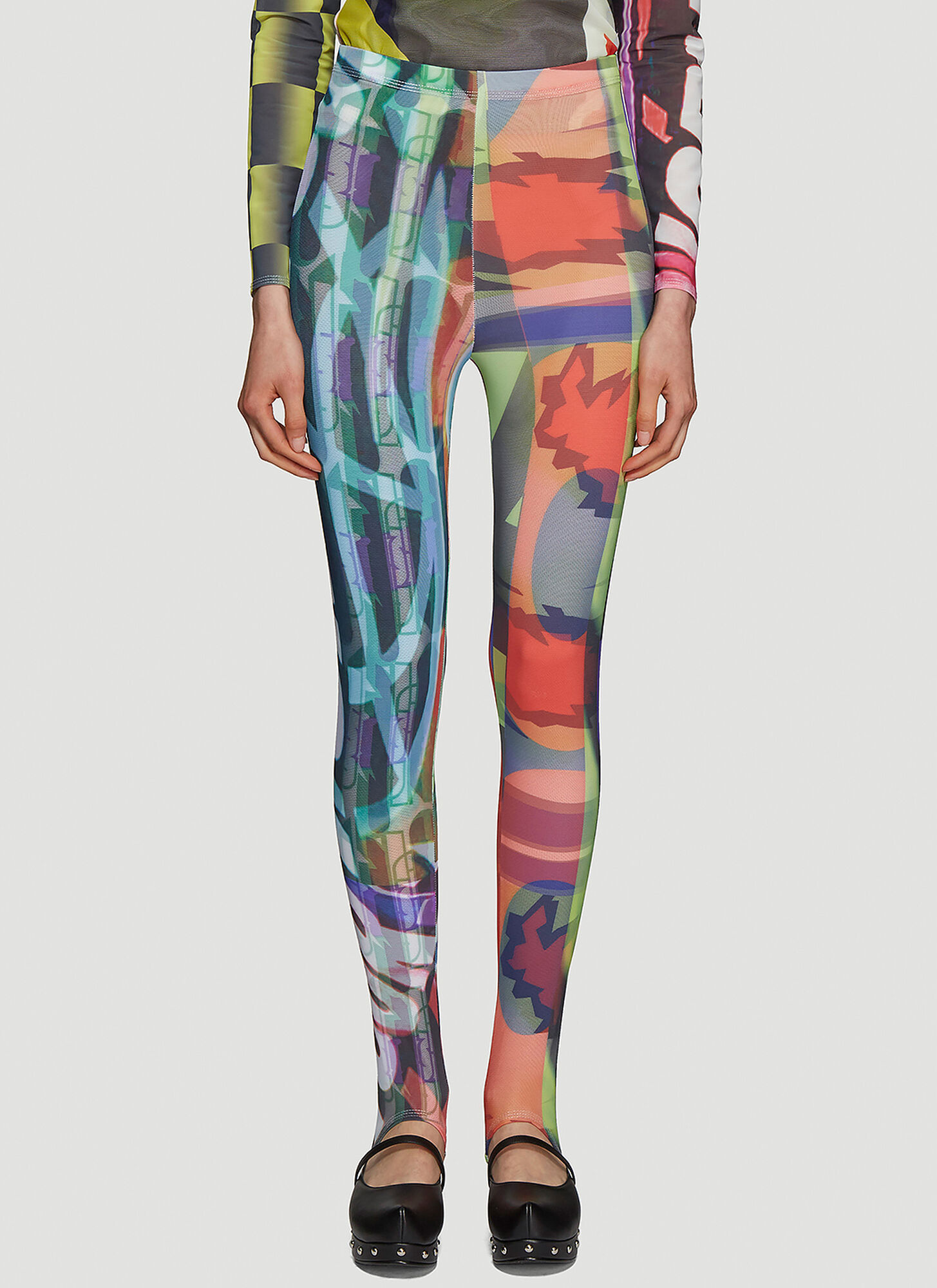 Chopova Lowena World Tour Stirrup Leggings in Multicolour