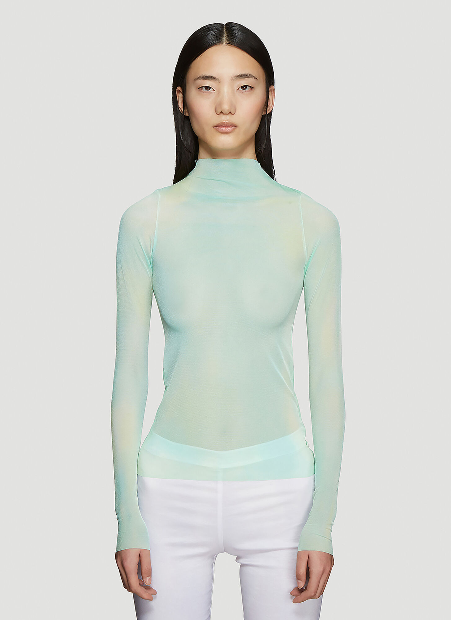 Collina Strada Cardio Nova Tie-Dye Long Sleeve Top in Green
