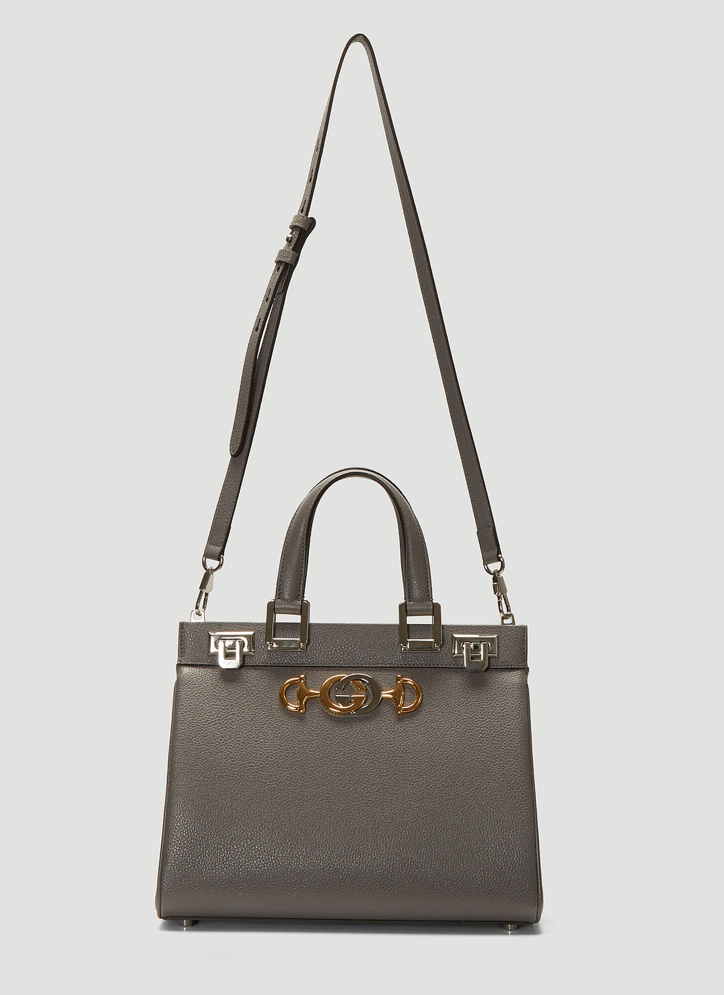 Photo of Gucci Zumi Top Handle Bag in Grey - Gucci Shoulder Bags