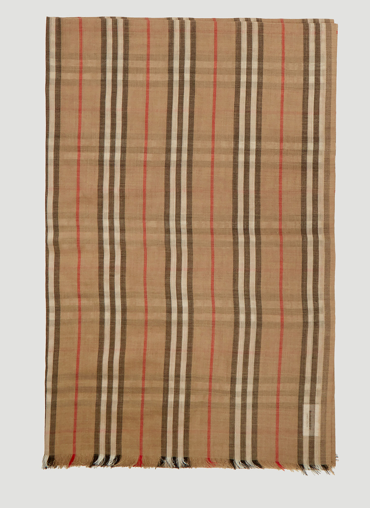 Burberry Heritage Stripe and Vintage Check Scarf in Beige