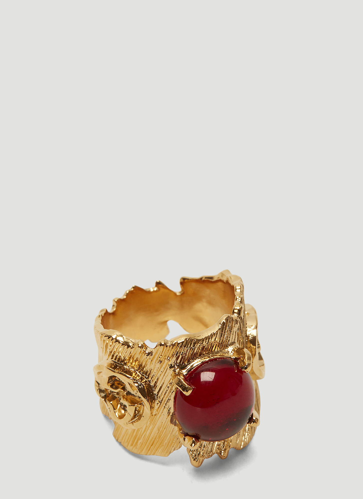 Gucci Textured Ring in Gold