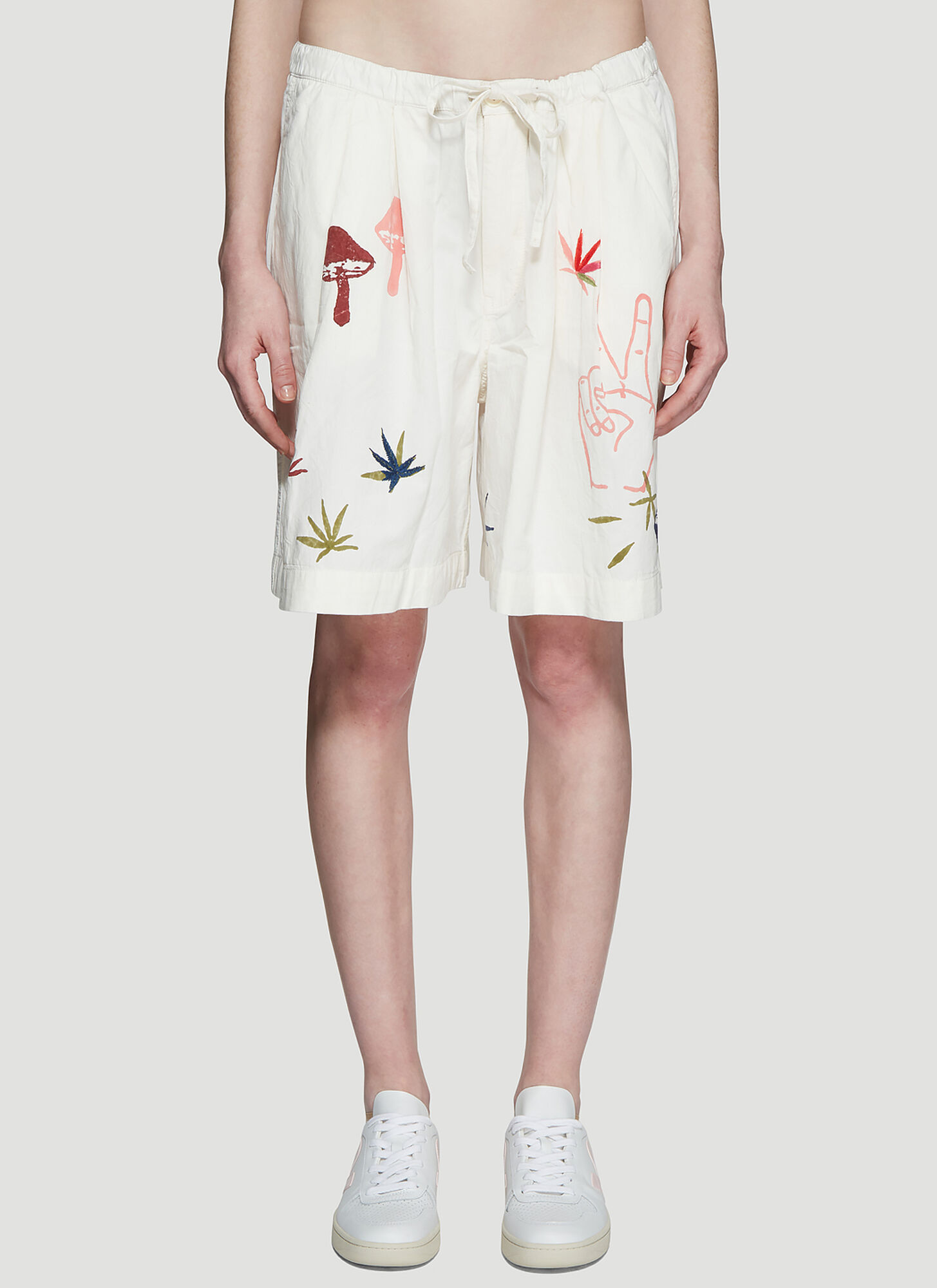 STORY Mfg. Strange Trip Shorts in White