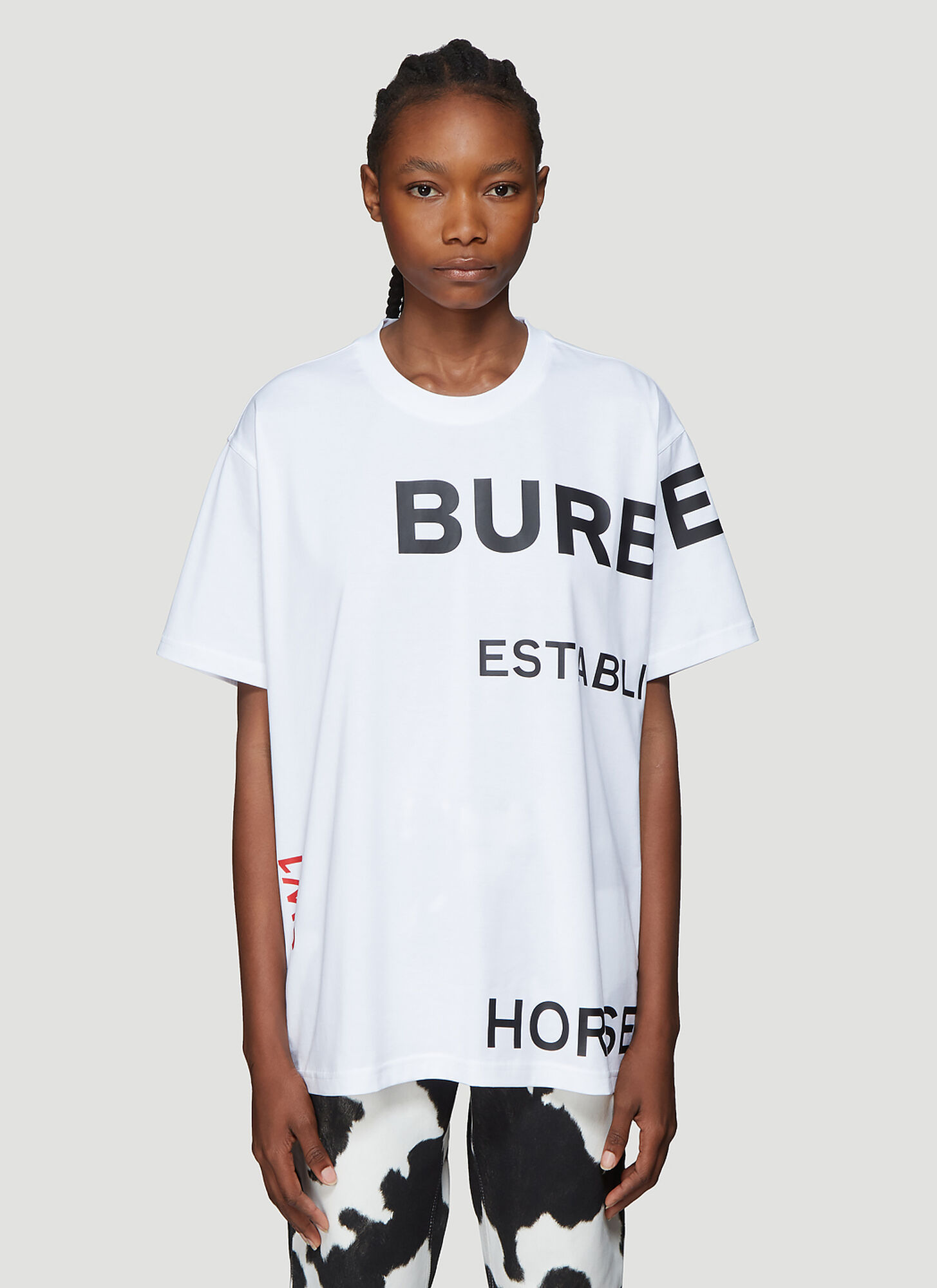 Burberry Carrick Logo T-Shirt in White