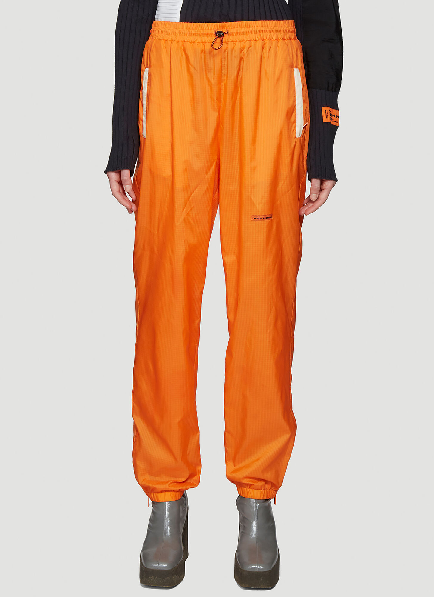 Heron Preston Tapered Pants in Orange
