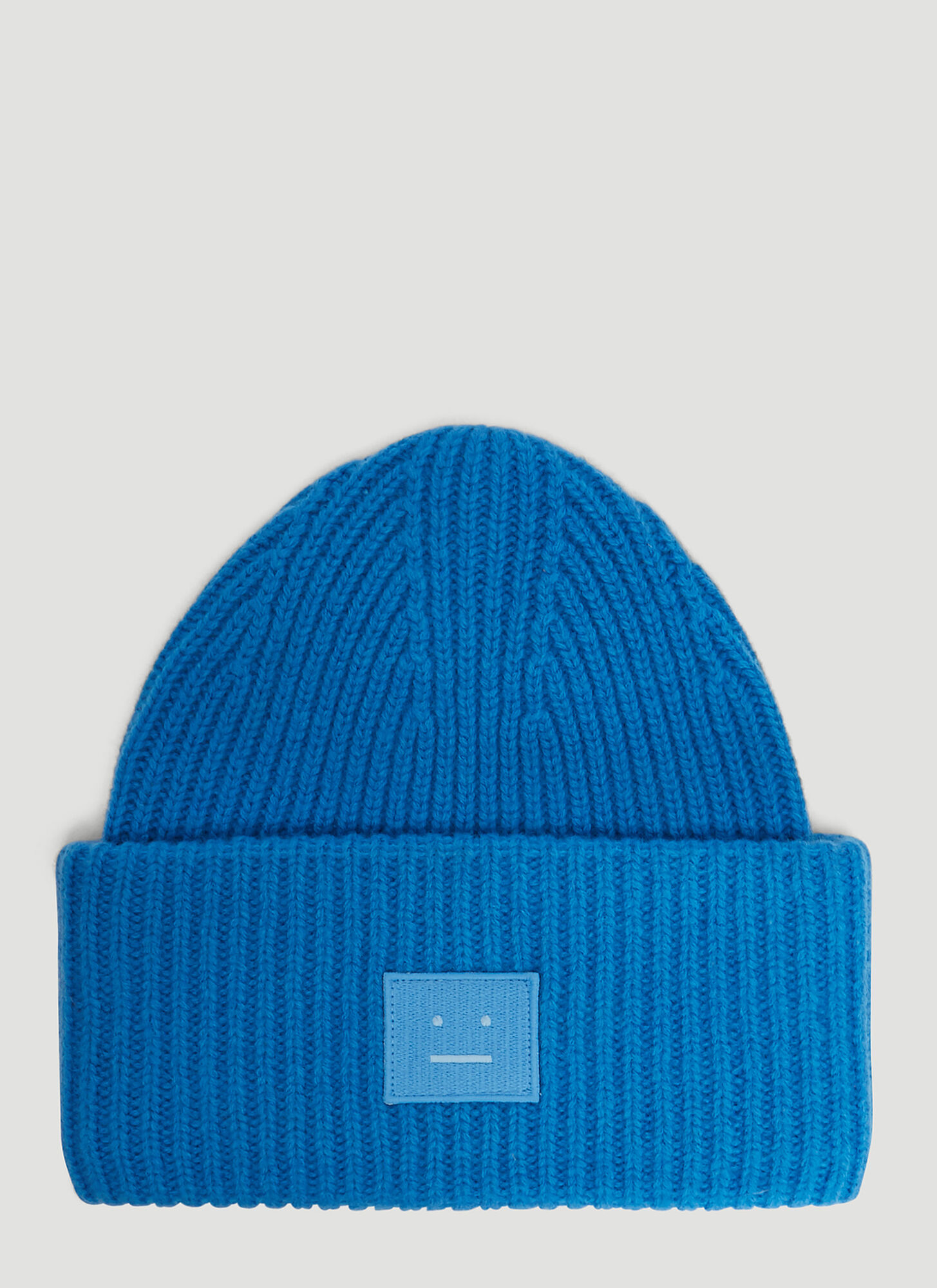 Acne Studios Pansy N Face Knit Hat in Blue