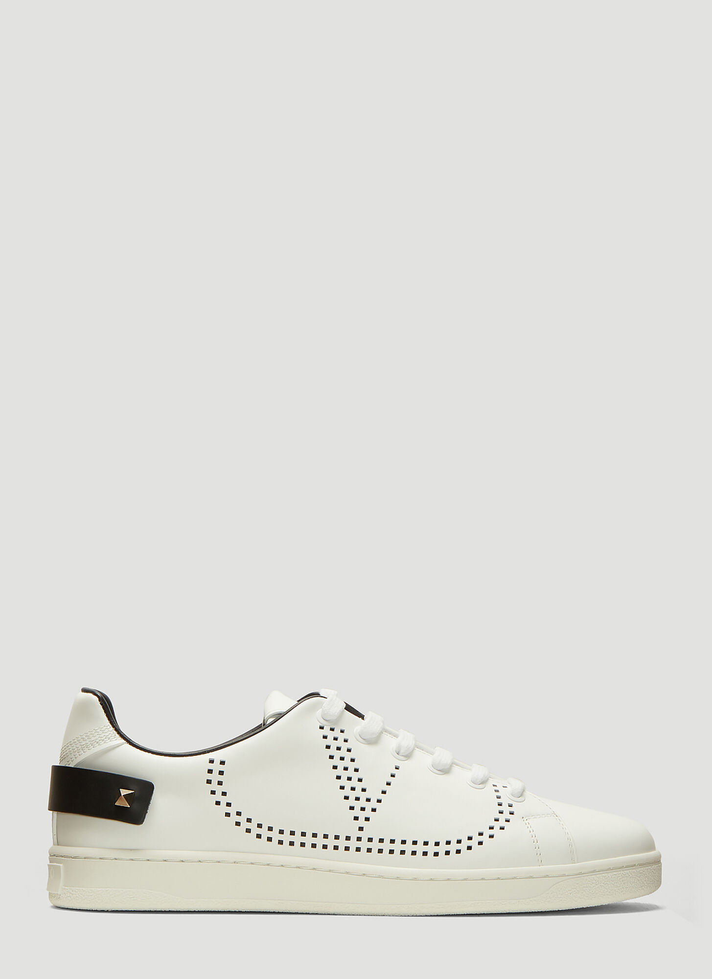 Valentino Backneck Sneaker in White