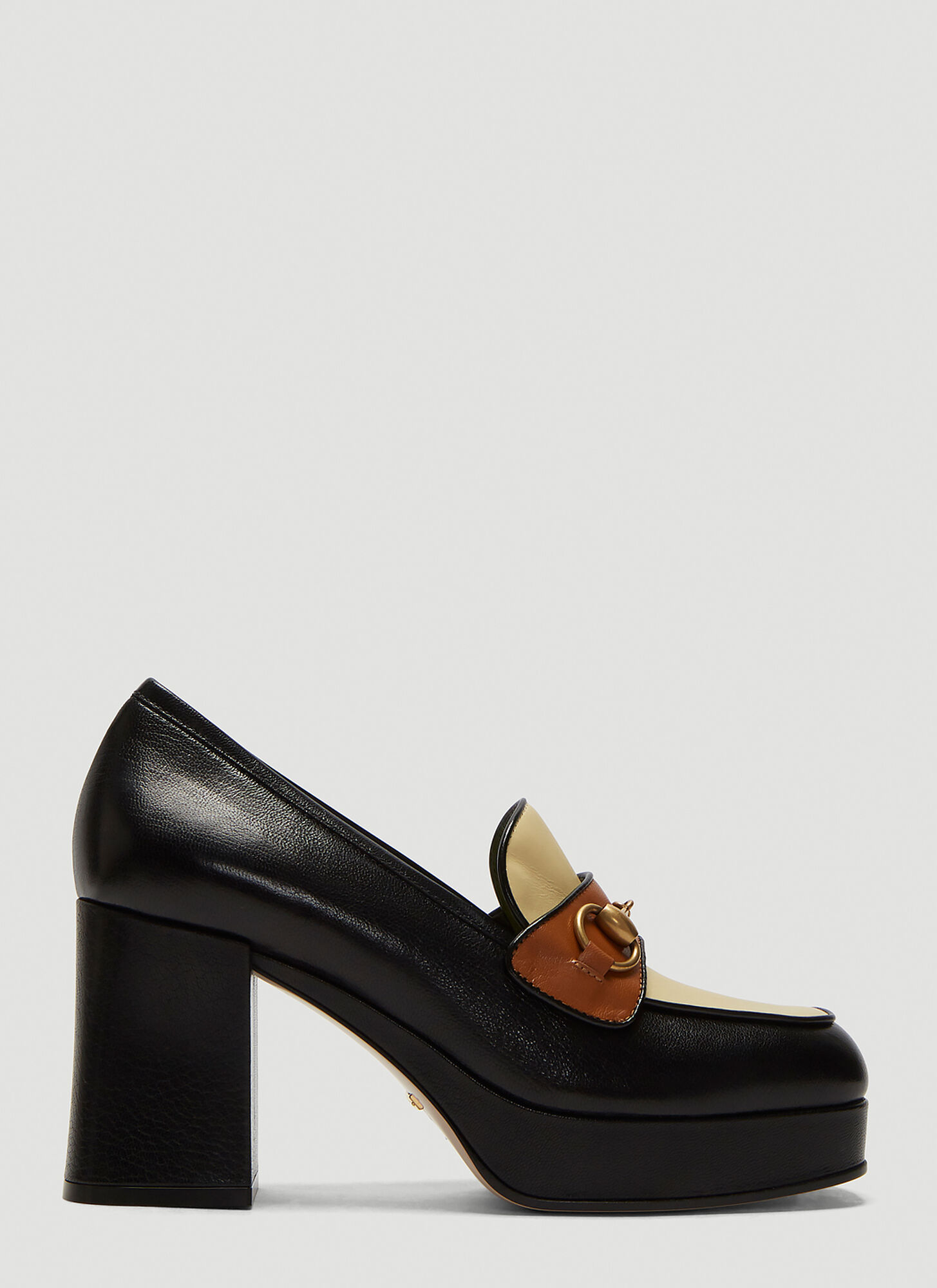 Gucci Horsebit High-Heel Loafers in Black