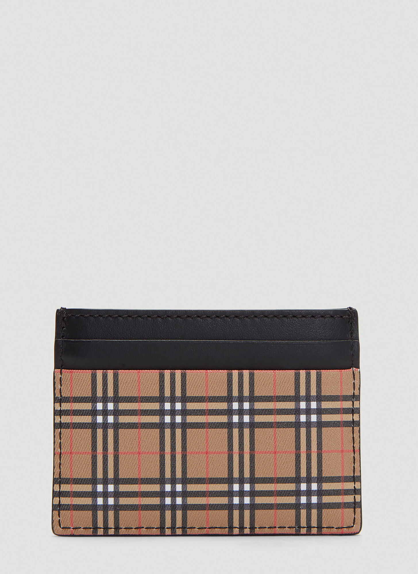 Burberry Classic Check Card Holder in Brown