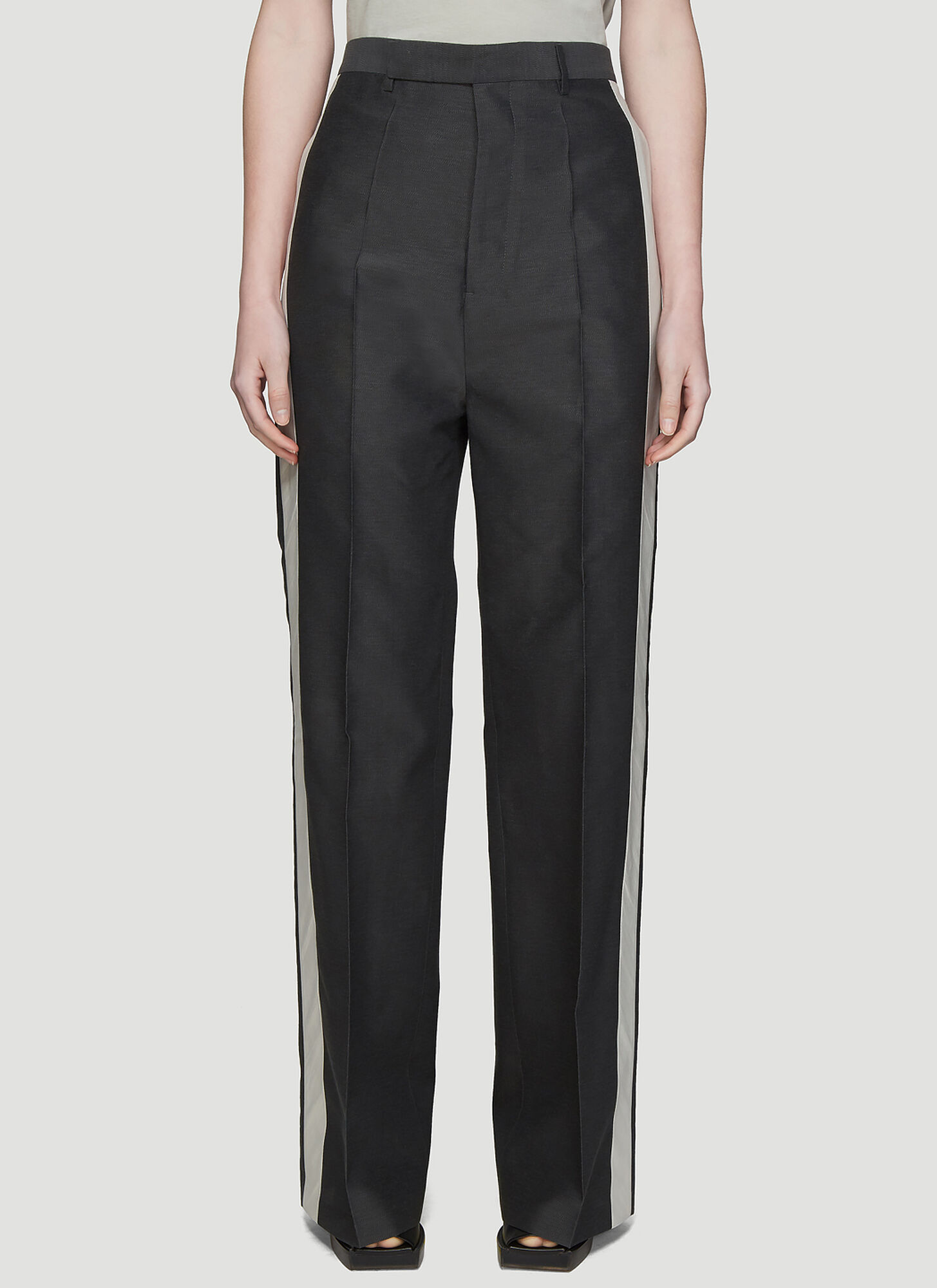 Rick Owens Babel Loose Tux Pants in Grey