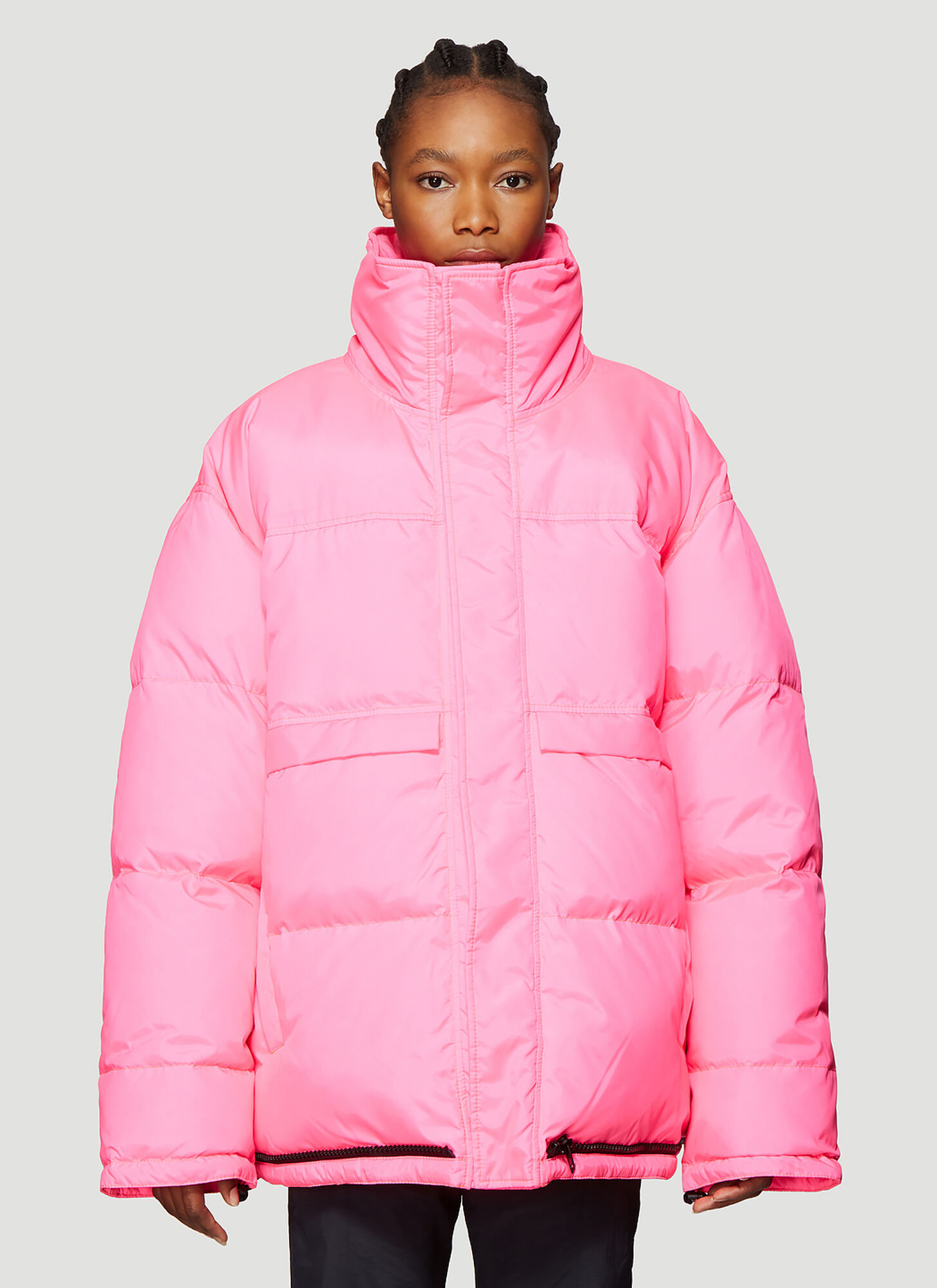 Vetements Quilted Puffer Jacket in Pink