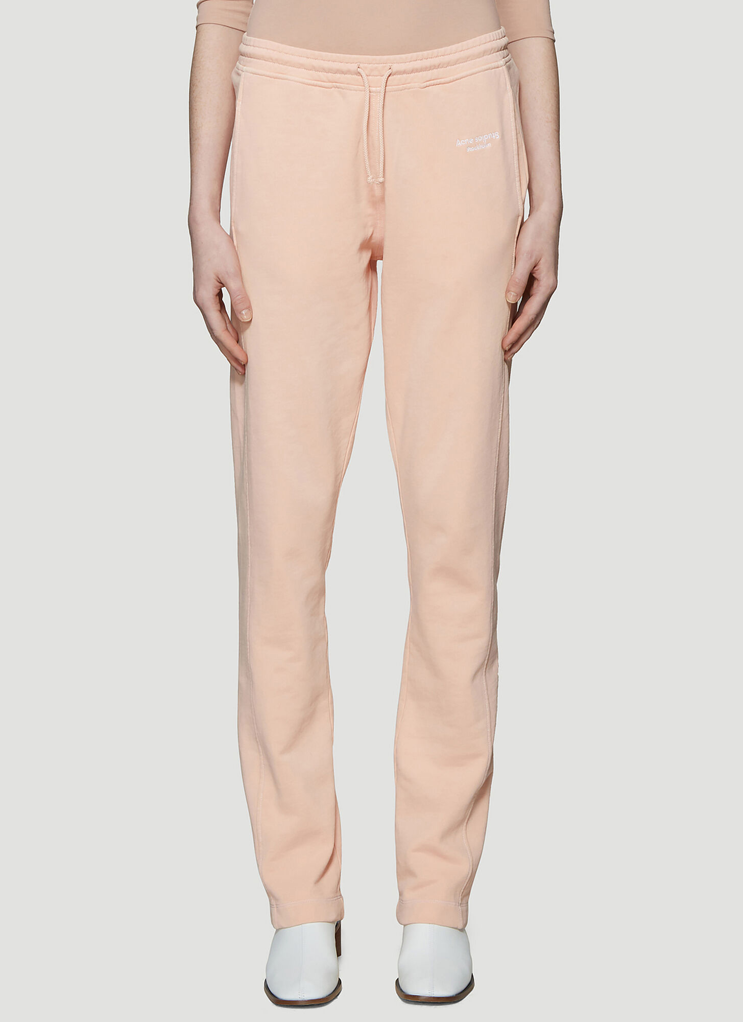 Acne Studios Track Pants in Pale Pink
