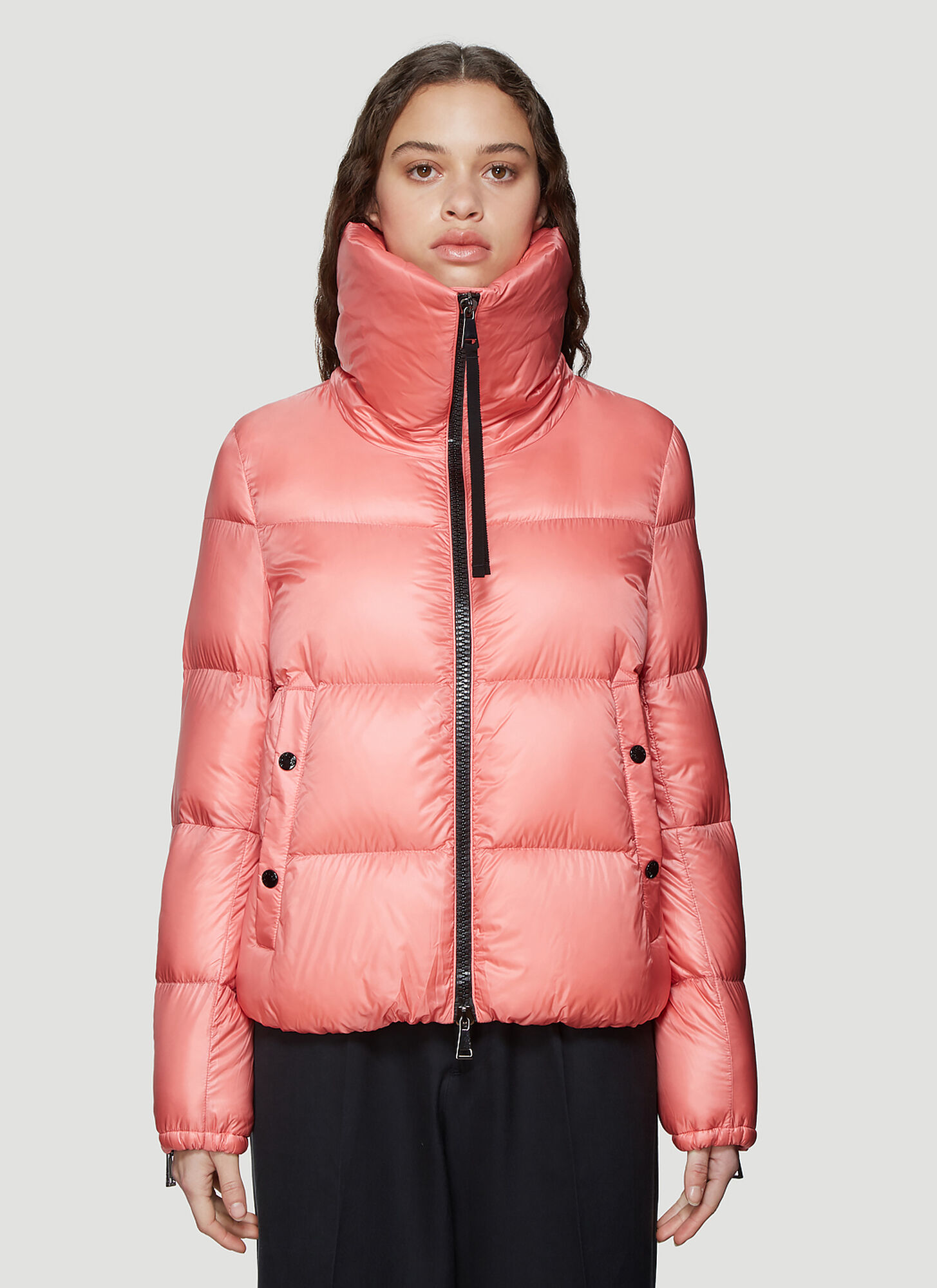 Moncler Bandama Padded Down Jacket in Pink
