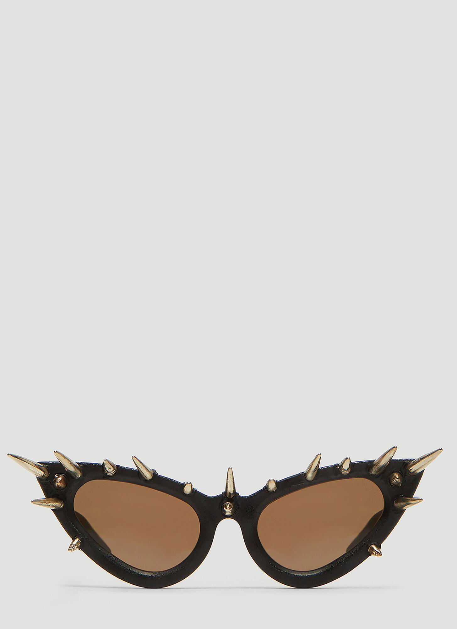 Kuboraum Mask Y3 Cat Eye Stud Embellished Sunglasses in Black