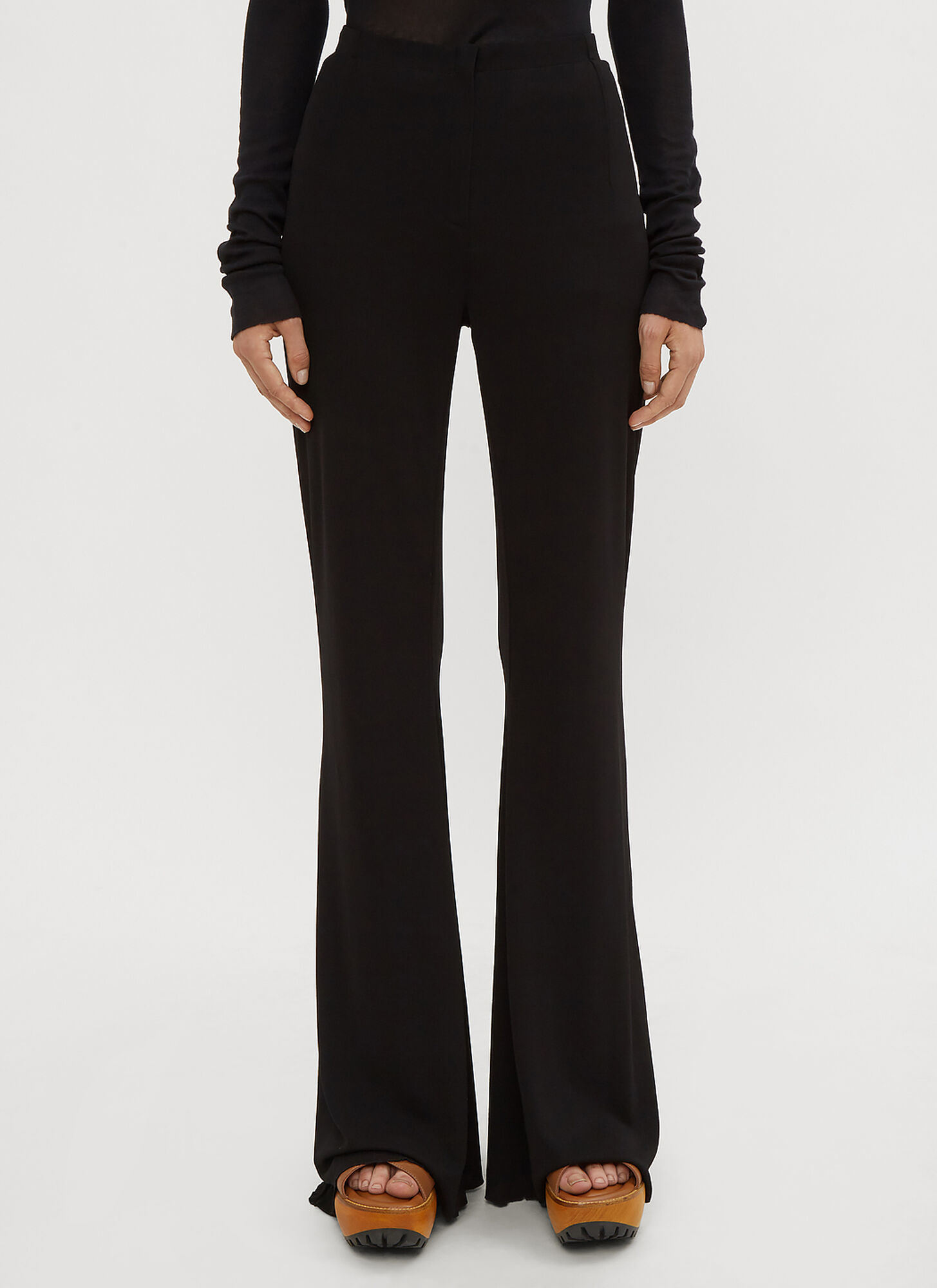 Photo of Marni Flared Jersey Pants in Black - Marni Pants