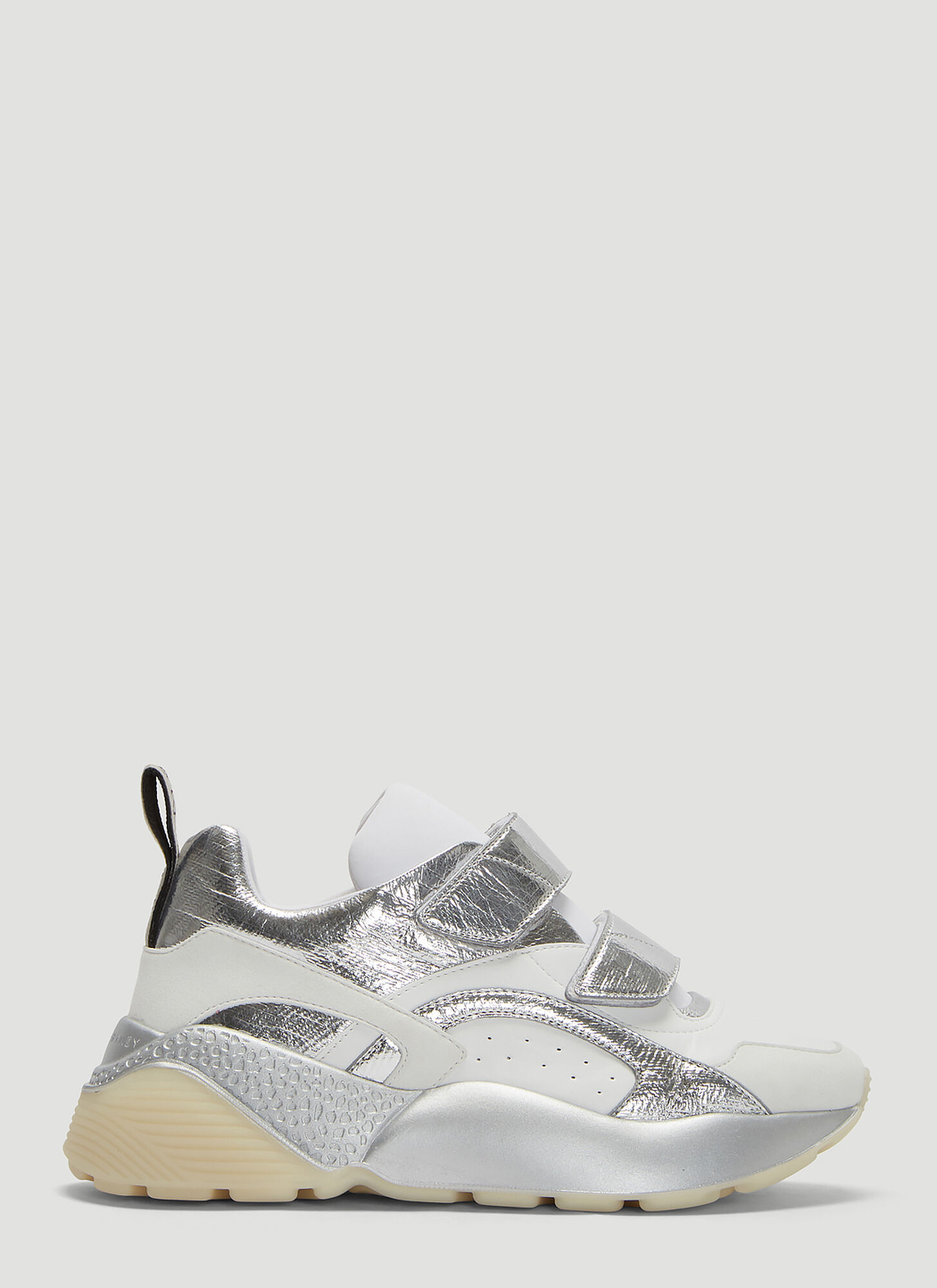 Stella McCartney Eclypse Metallic Touch Fastening Sneakers in White