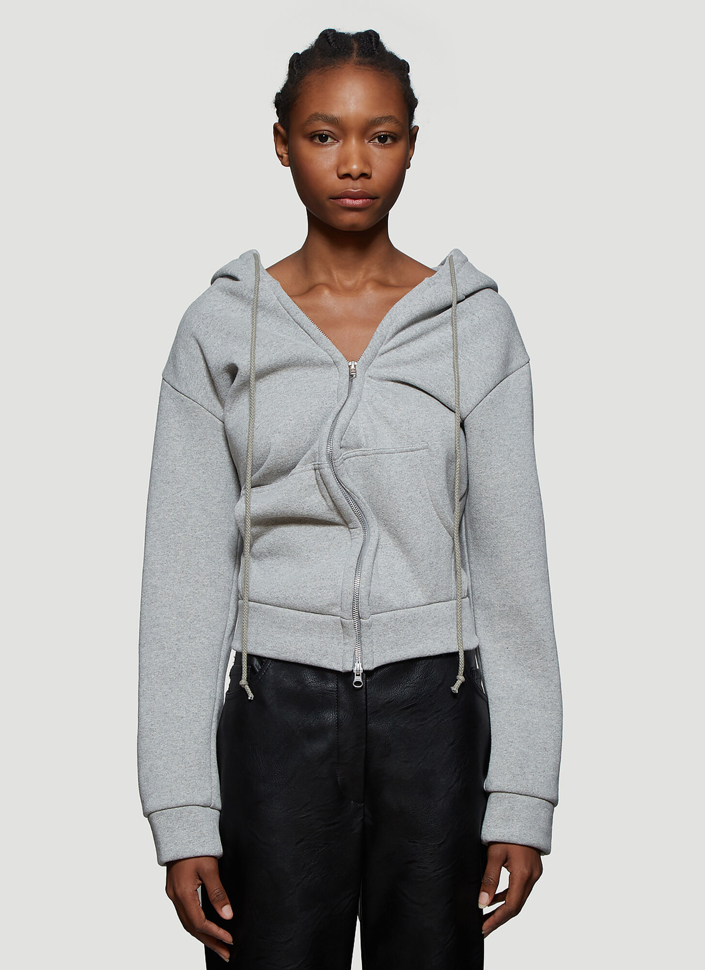 Vaquera Twisted Hoodie in Grey