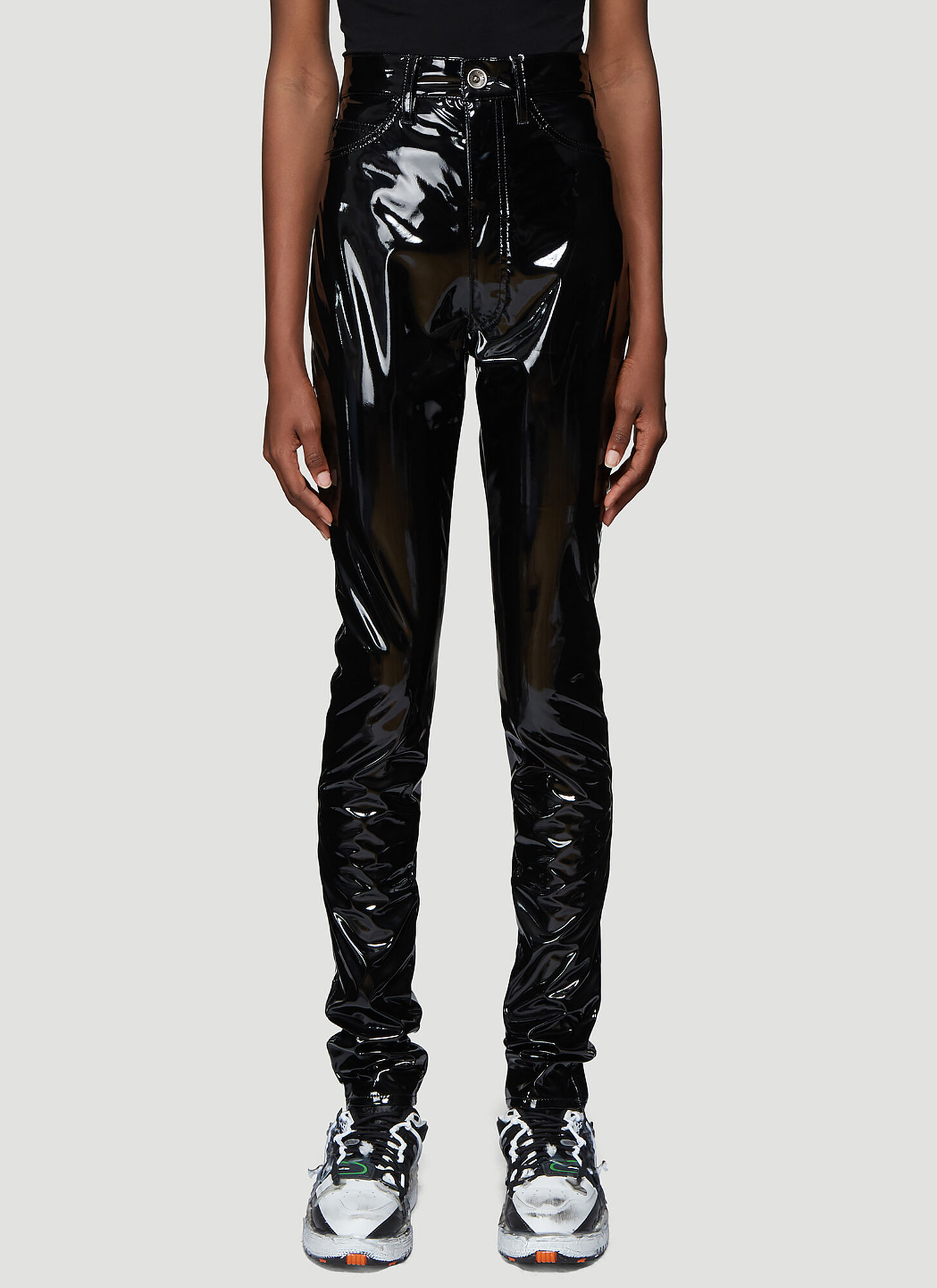 Maison Margiela Vinyl Pants in Black