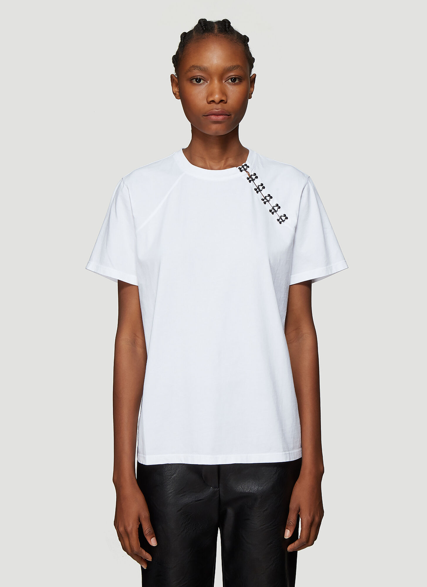 Olivier Theyskens Hook-And-Eye T-Shirt in White
