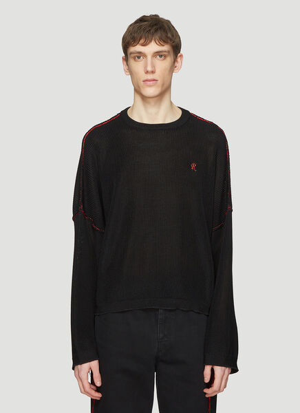 Raf Simons Sweaters Big Sleeved Cropped Sweater in Black