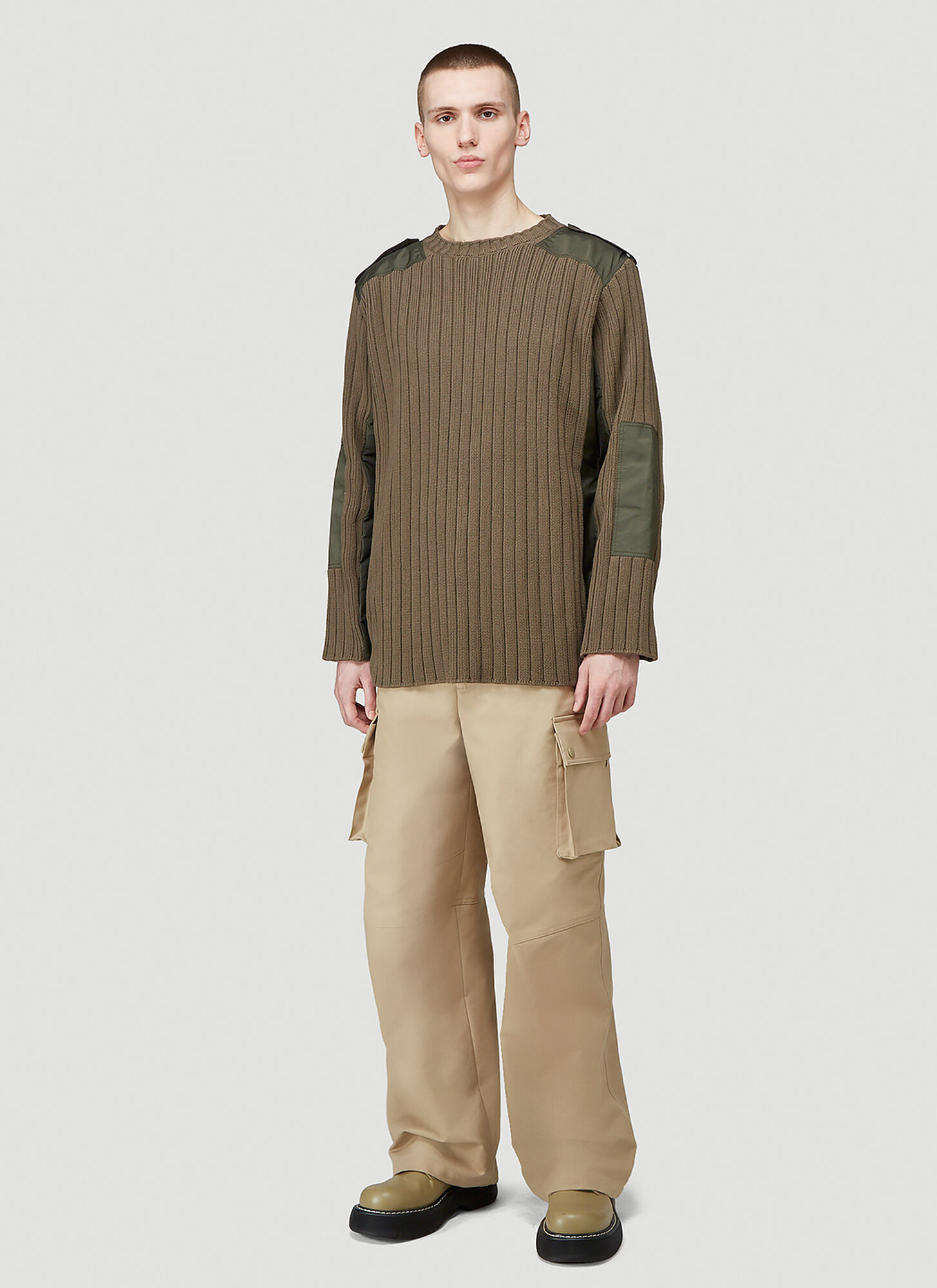 Valentino Contrast-Patch Sweater