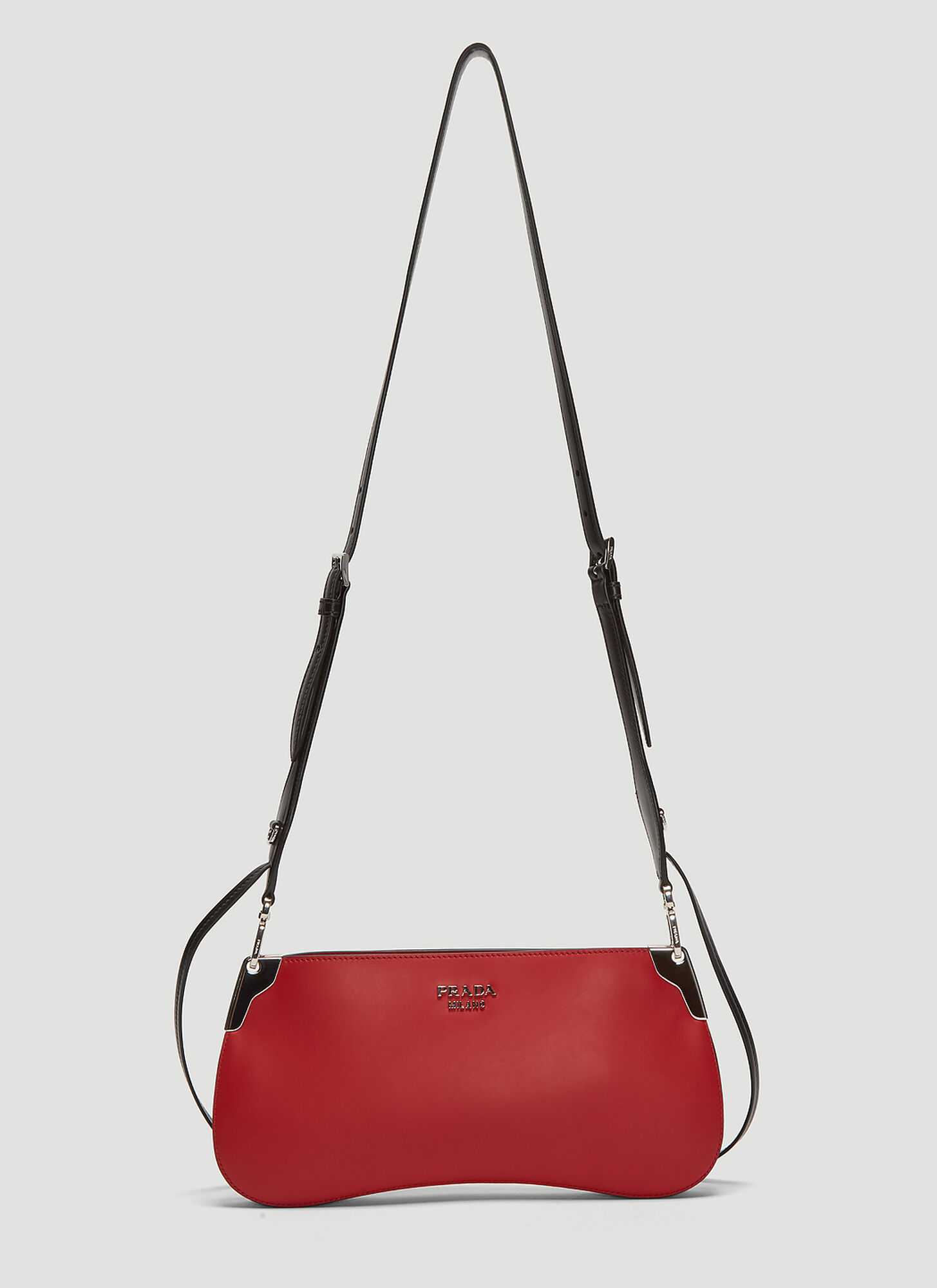Prada Small Sidonie Saddle Bag in Red