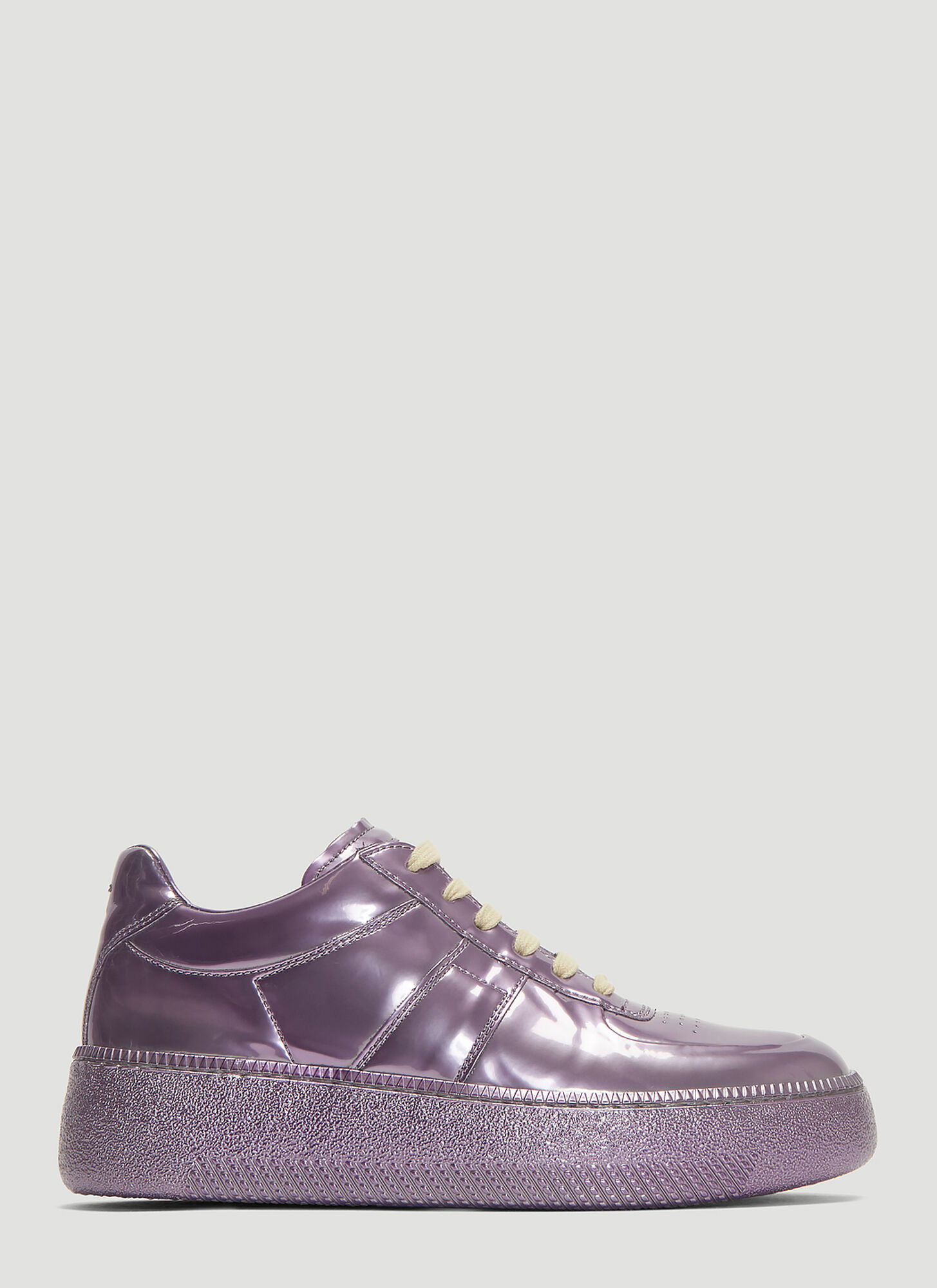 Maison Margiela Replica Metallic Sneakers in Purple