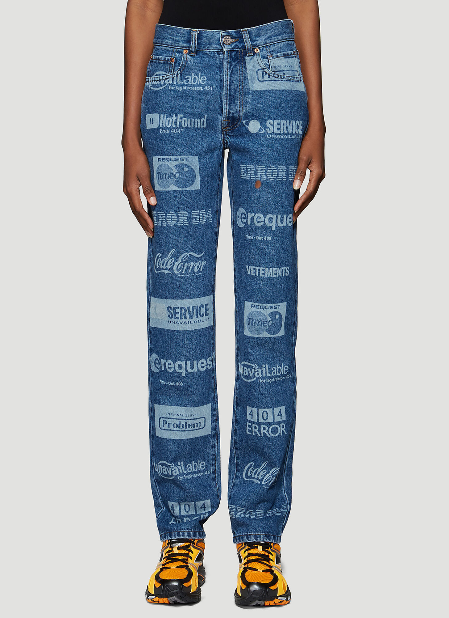 Vetements Branded Jeans in Blue