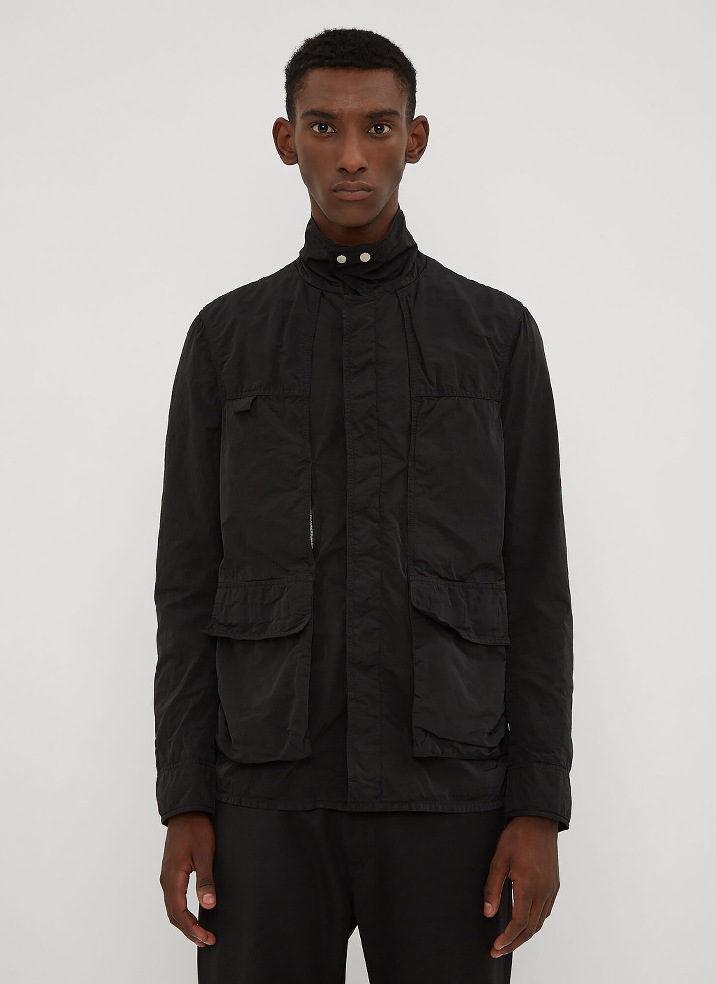 1017 ALYX 9SM Technical Panel Pocket Jacket in Black size EU - 46